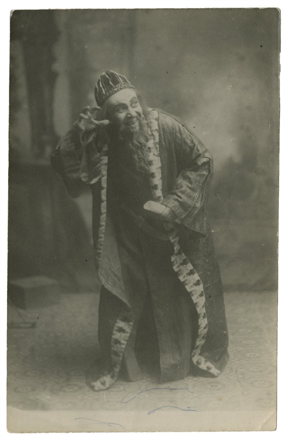 [Emilios Veakis as Shylock, in Shakespeare's Merchant of Venice, in his own theatre in Athens] [graphic].