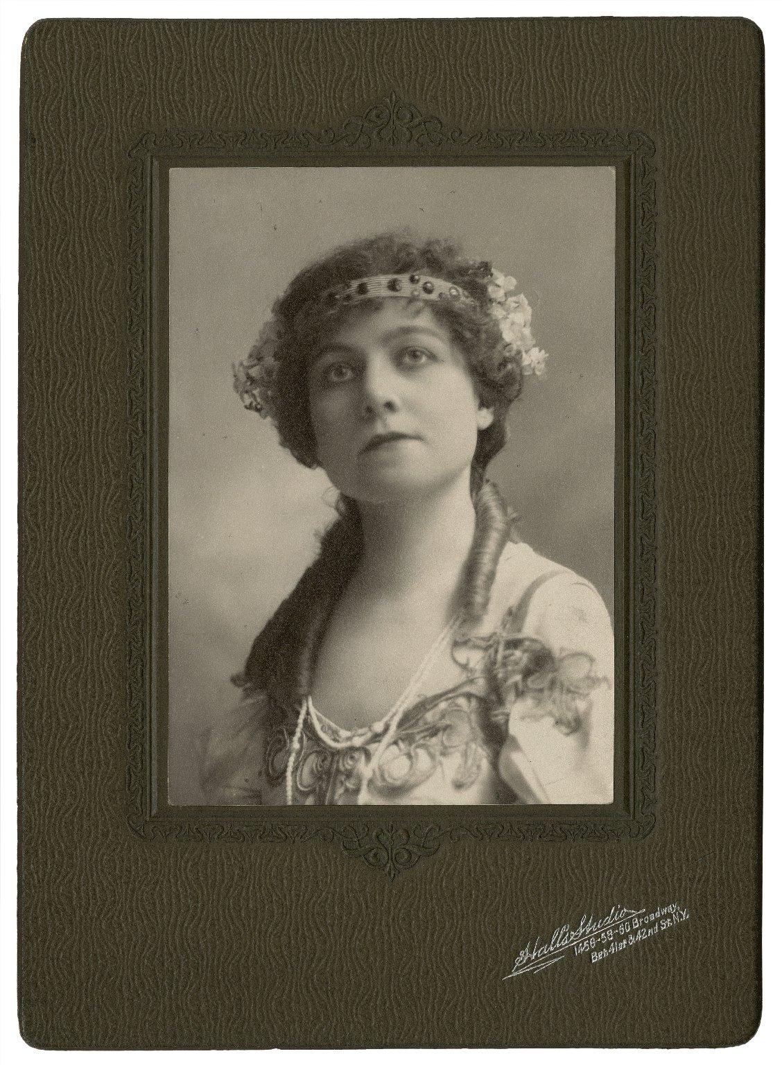 Eugenie Webb (Mrs. Frank Peters) [graphic] / Hall's Studio.