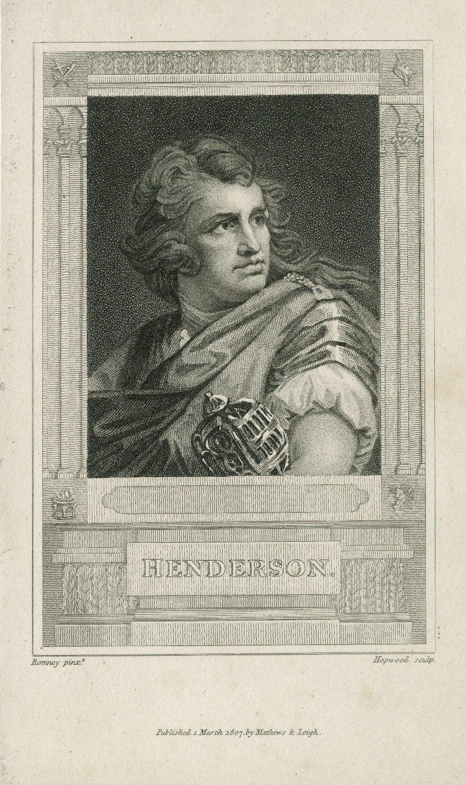 Henderson [graphic] / Romney, pinxt. ; Hopwood, sculpt.