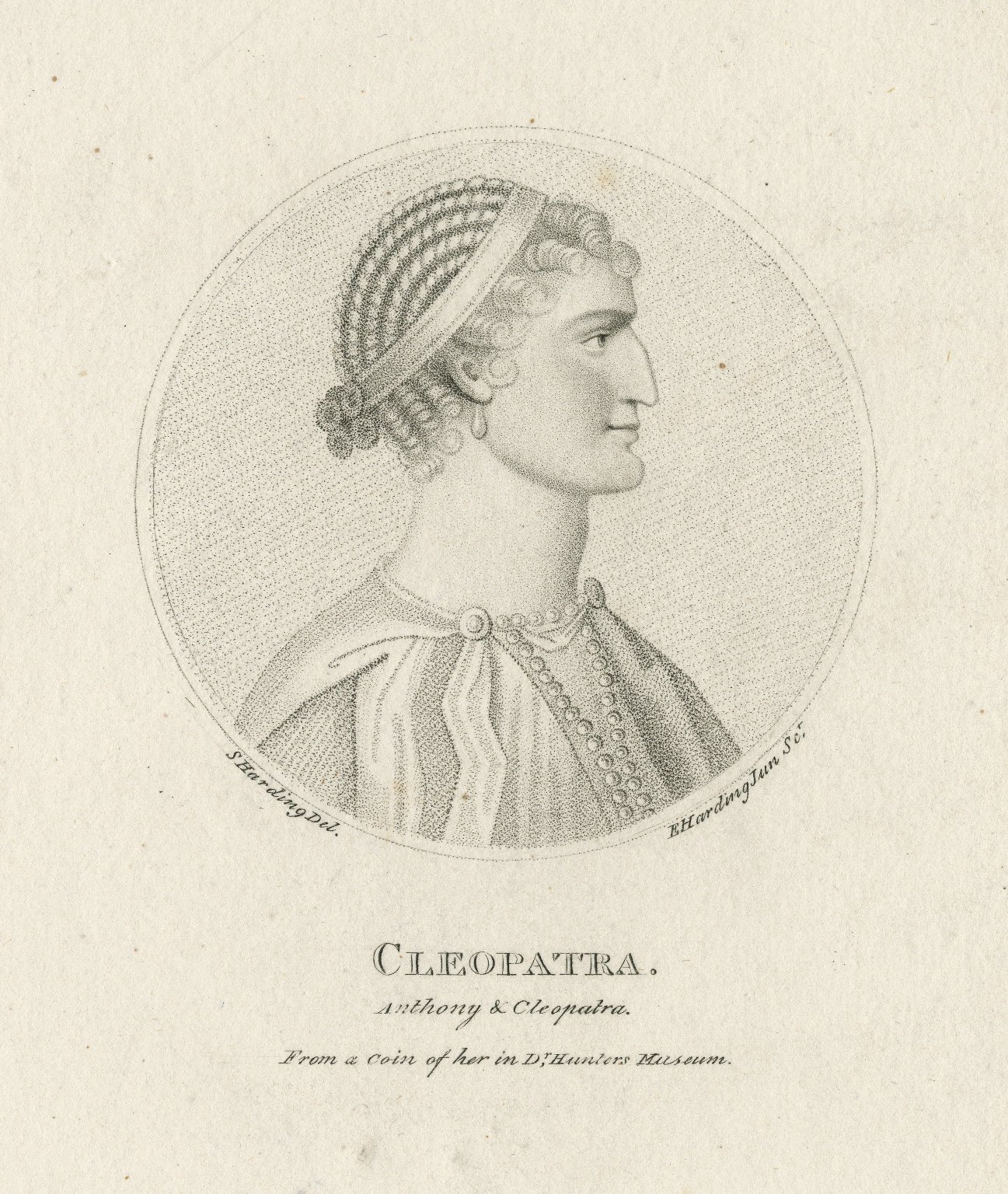 Cleopatra [character in Shakespeare's Anthony & Cleopatra]... [graphic] / S. Harding del. ; E. Harding Jun. sc.