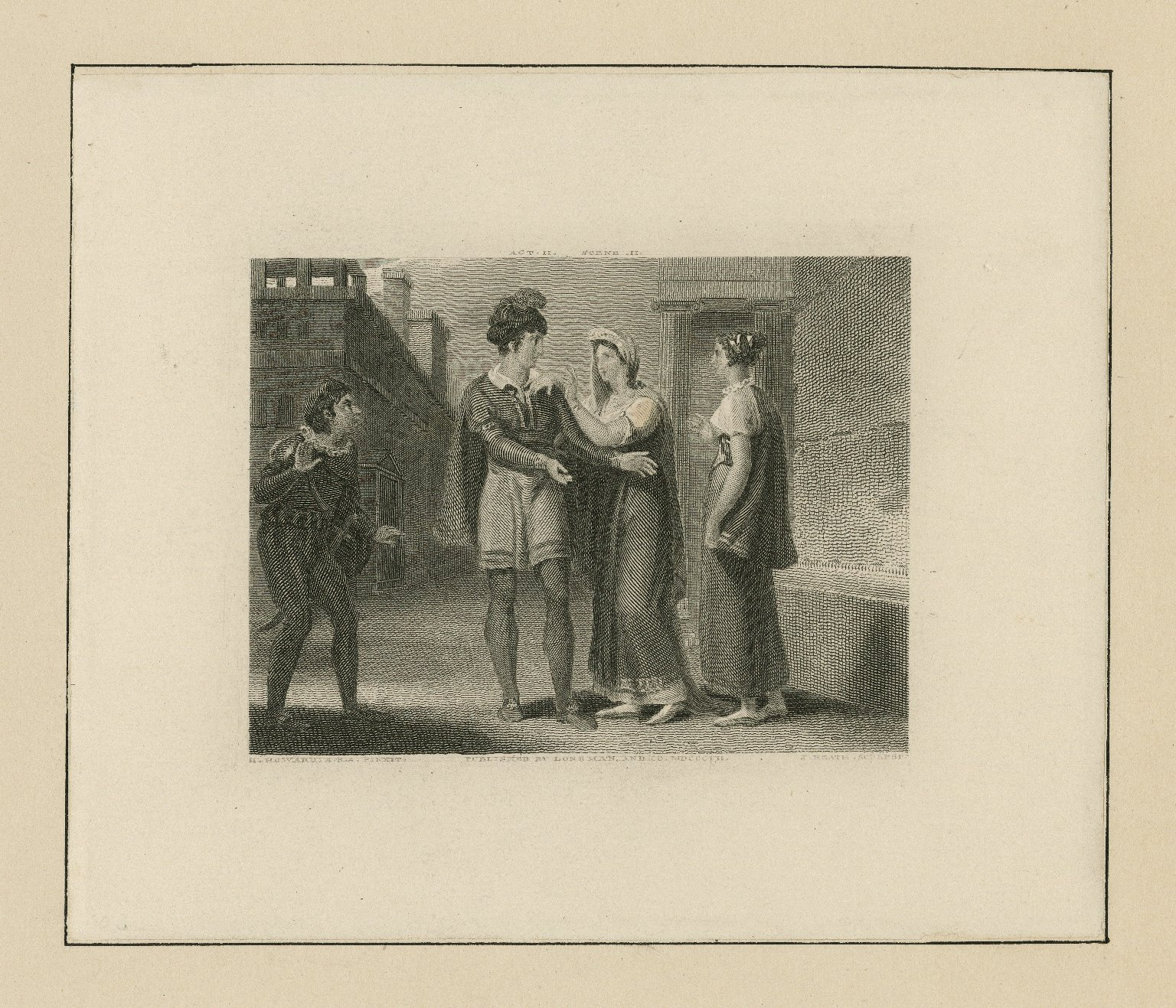 [Comedy of errors] act II, scene II [graphic] / H. Howard A.R.A. pinxit ; J. Heath sculpsit.