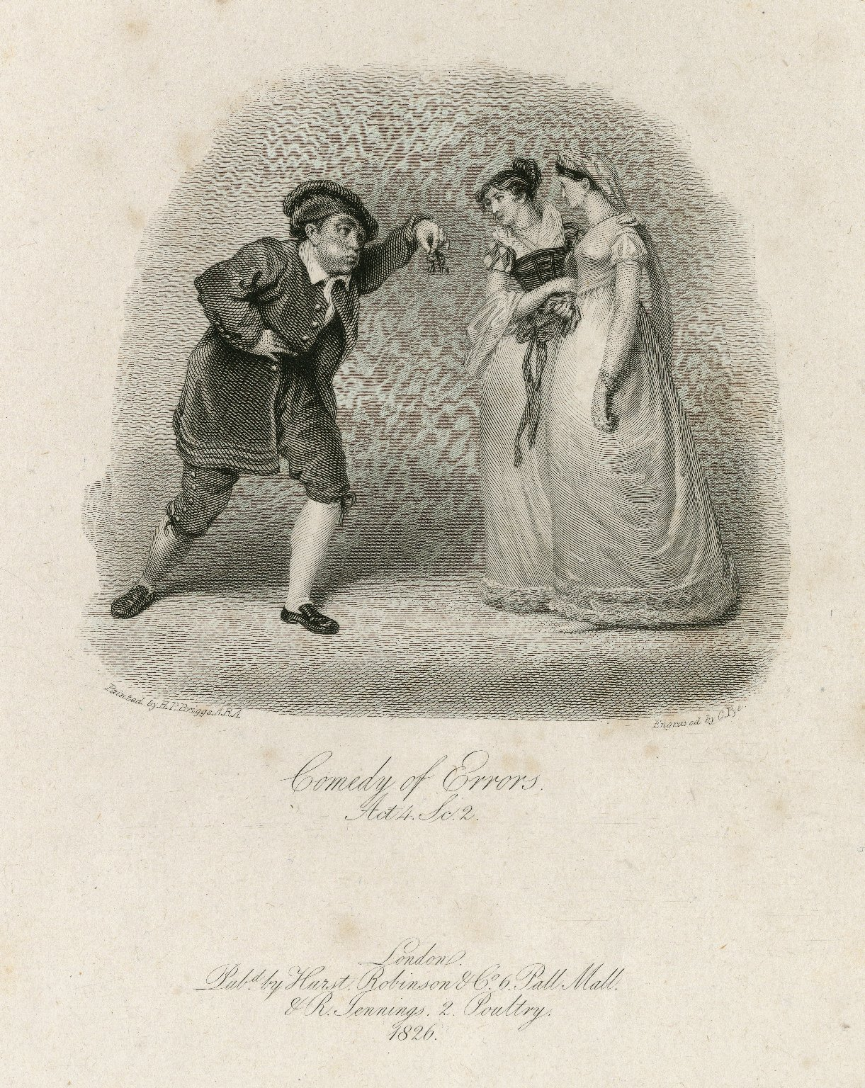Comedy of errors, act 4, sc. 2 [graphic] / painted by H.P. Briggs, A.R.A. ; engraved by C. Pye.