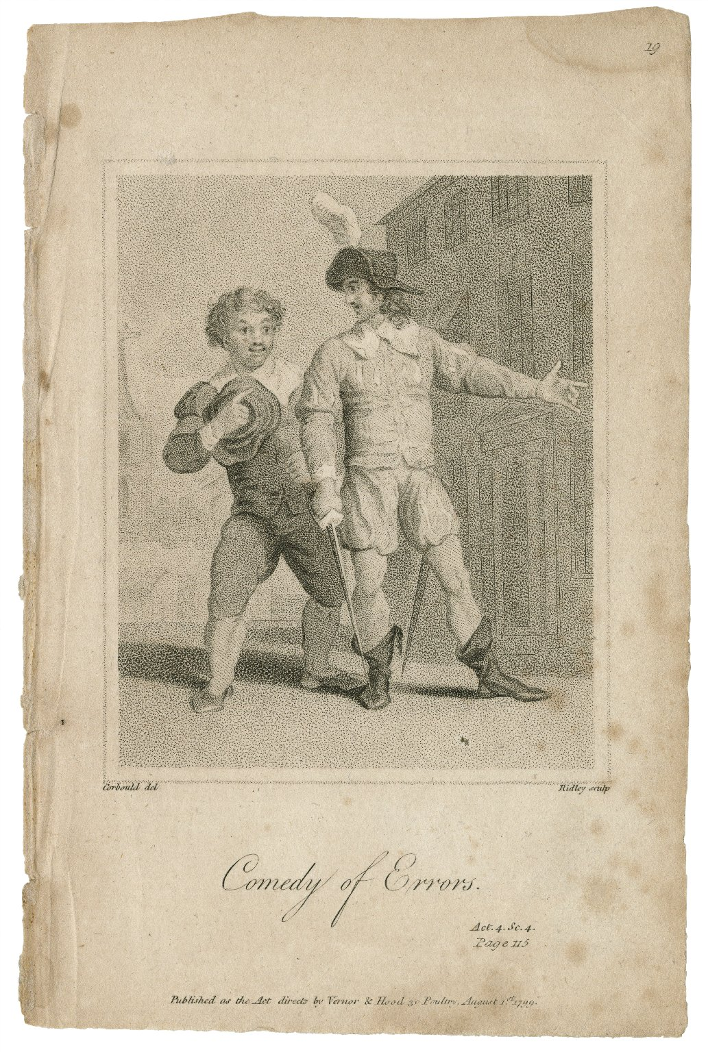 Comedy of errors, act 4, sc. 4 [graphic] / Corbould del. ; Ridley sculp.