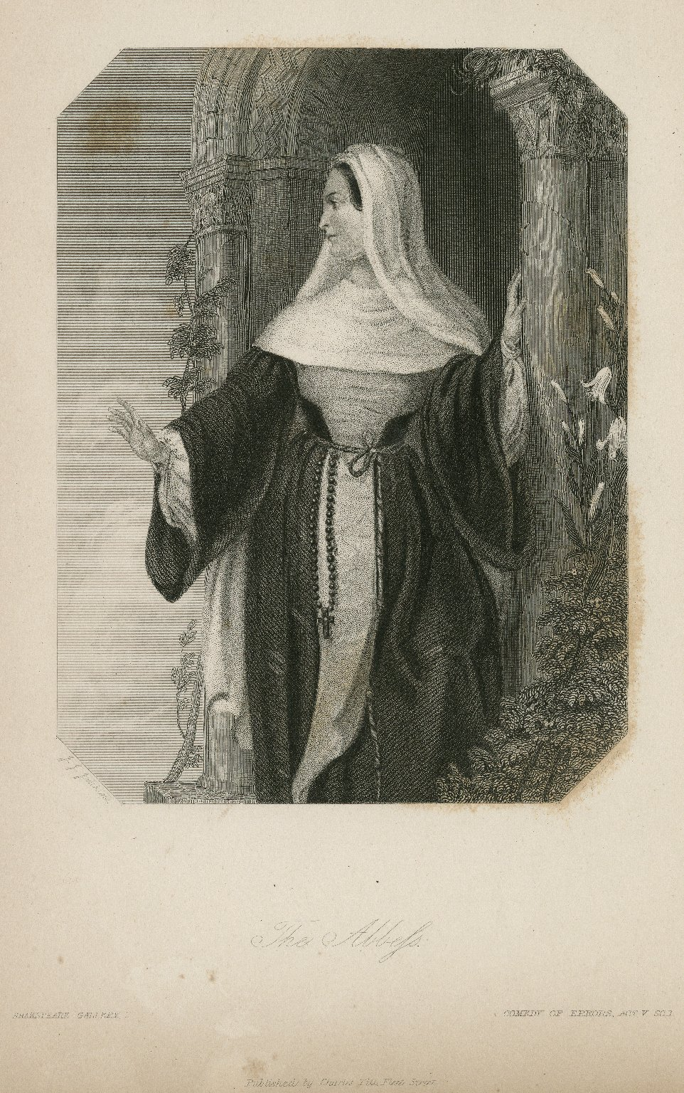 The Abbess, Comedy of errors, act V, sc. 1 [graphic] / J.J. Jenkins ; Jackman.