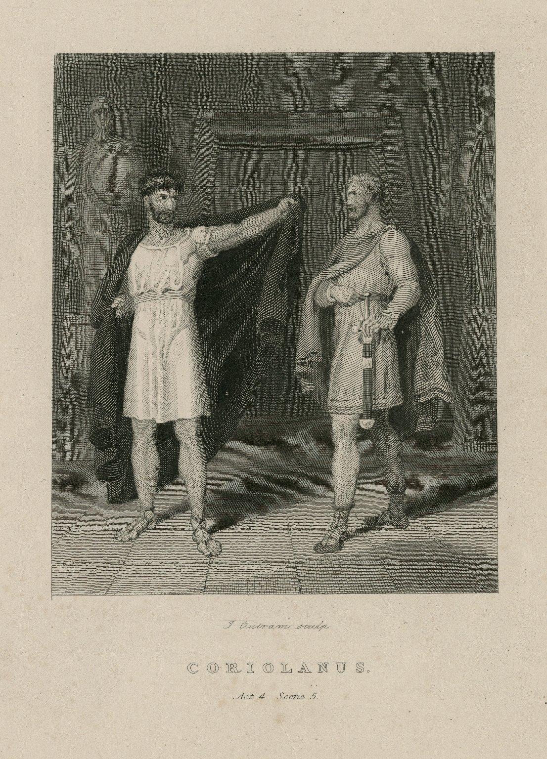 Coriolanus, act 4, scene 5 [graphic] / J. Outram, sculp.