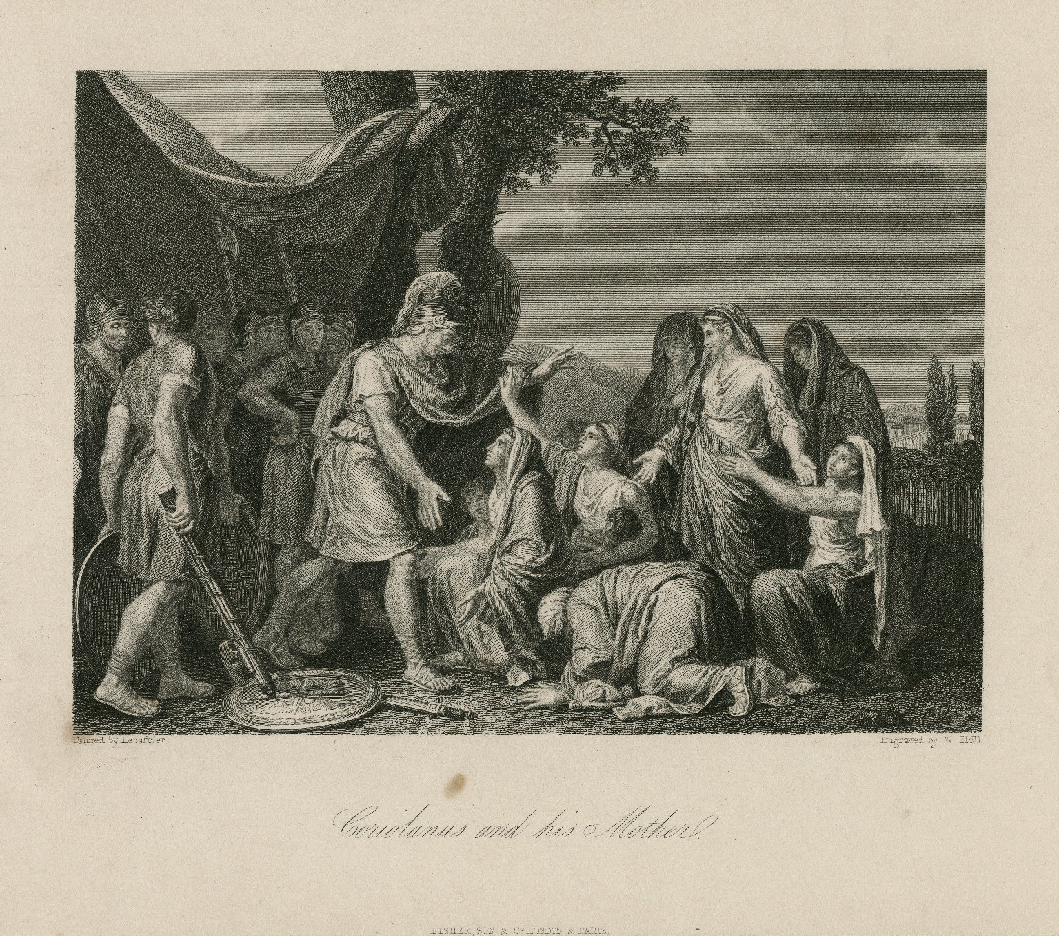 Coriolanus and his Mother [graphic] : [Act V, scene 3] / painted by Lebarbier ; engraved by W. Holl.