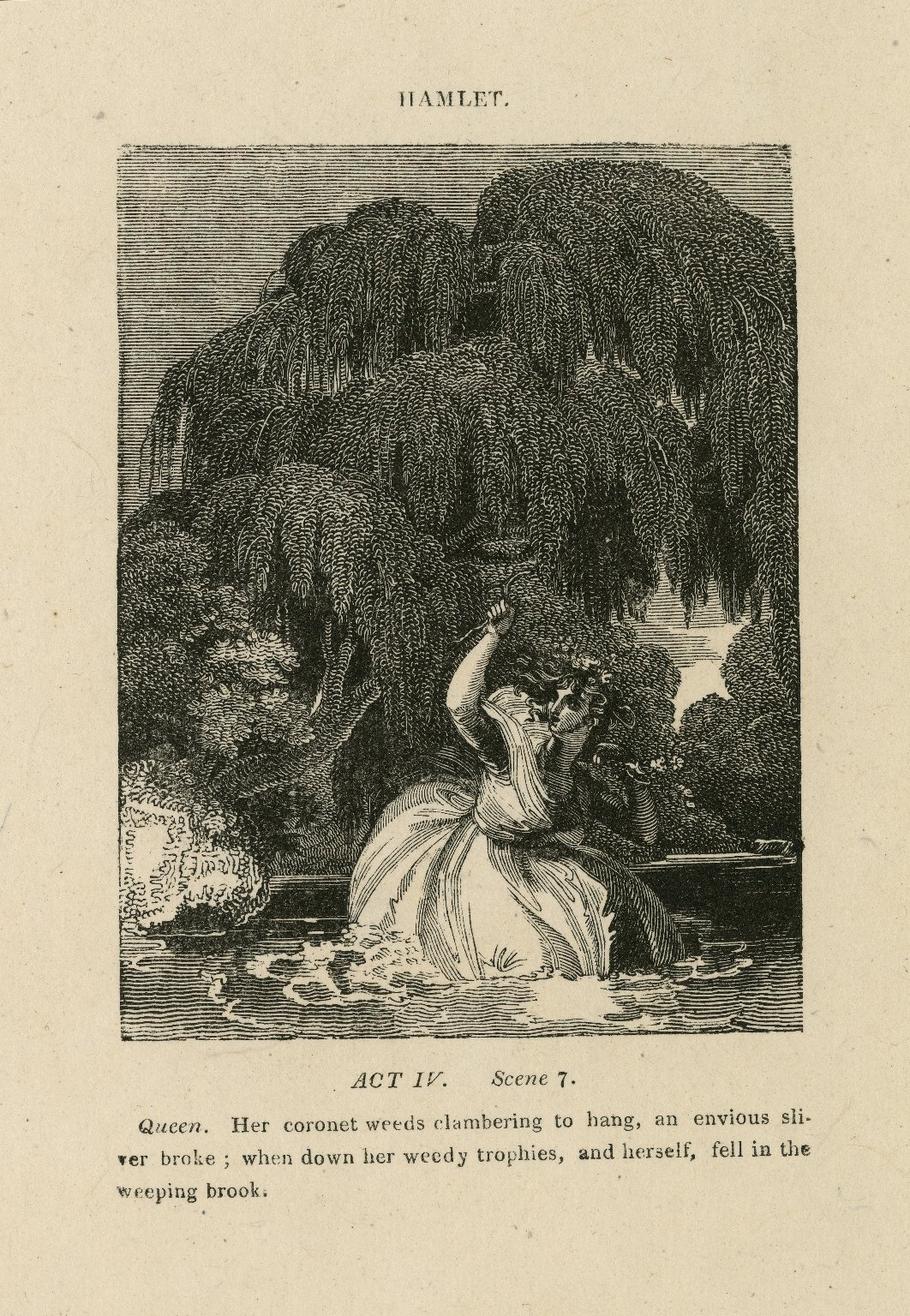 Hamlet, [Ophelia's death] ... act IV, scene 7 [graphic].