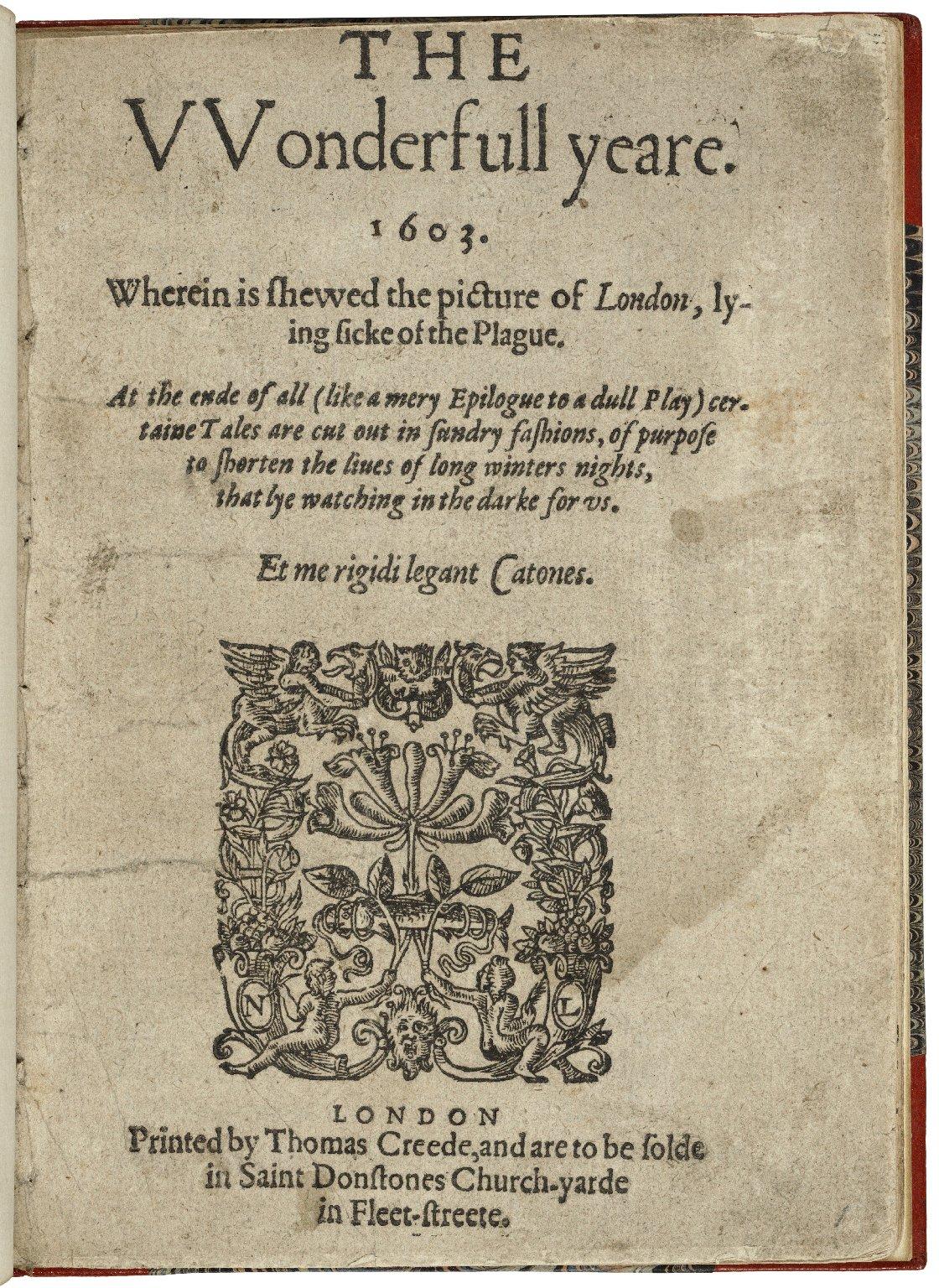 The vvonderfull yeare. 1603.
