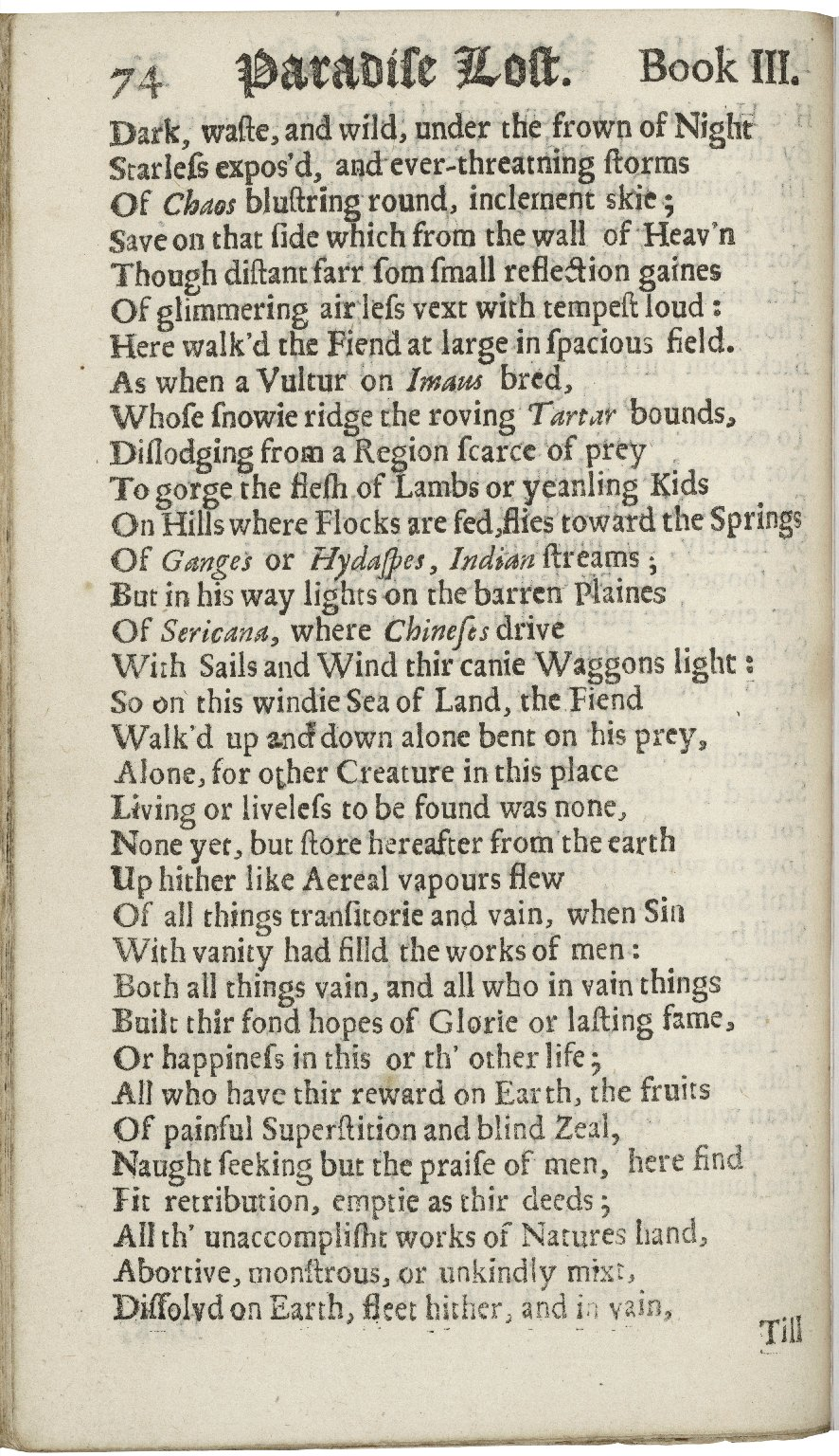 Paradise lost, A poem in twelve books. The author John Milton.