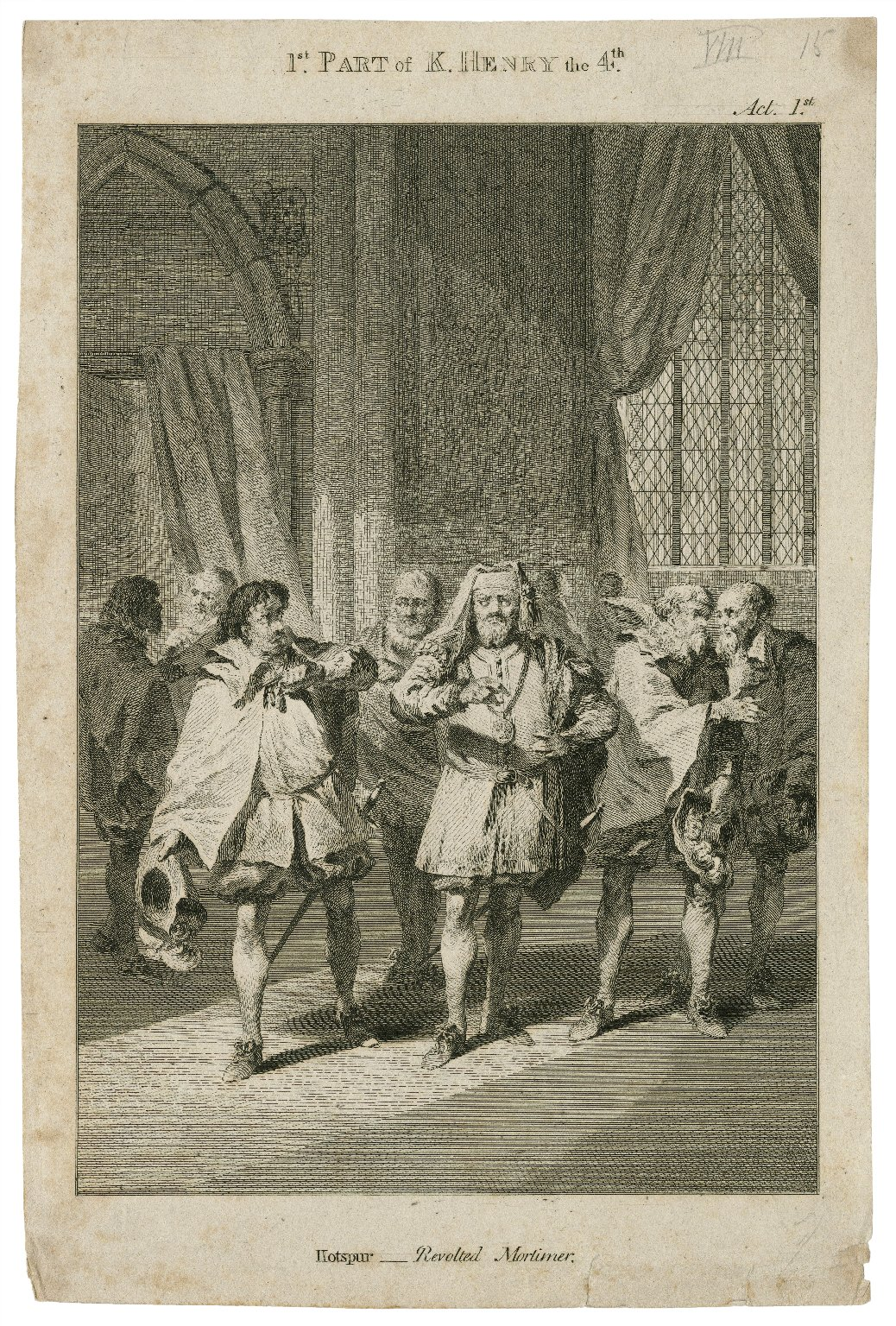 1st part of K. Henry the 4th, act 1st [sc.3] Hotspur: revolted Mortimer [graphic].