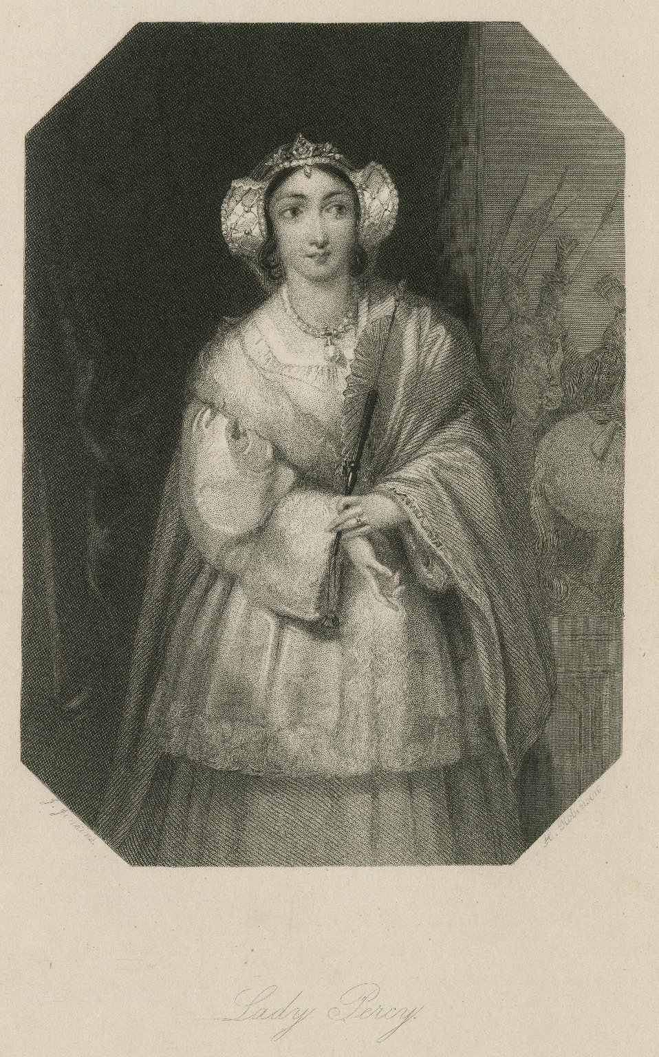 Lady Percy [character in Shakespeare's King Henry IV, pt. 1] [graphic] / J. Jenkins ; H. Robinson.