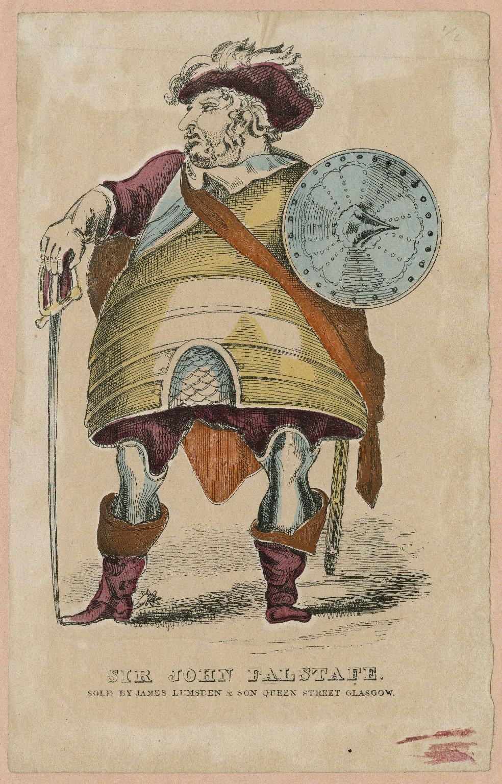 Sir John Falstafe, [character in Shakespeare's Henry IV, pt. 1] [graphic].