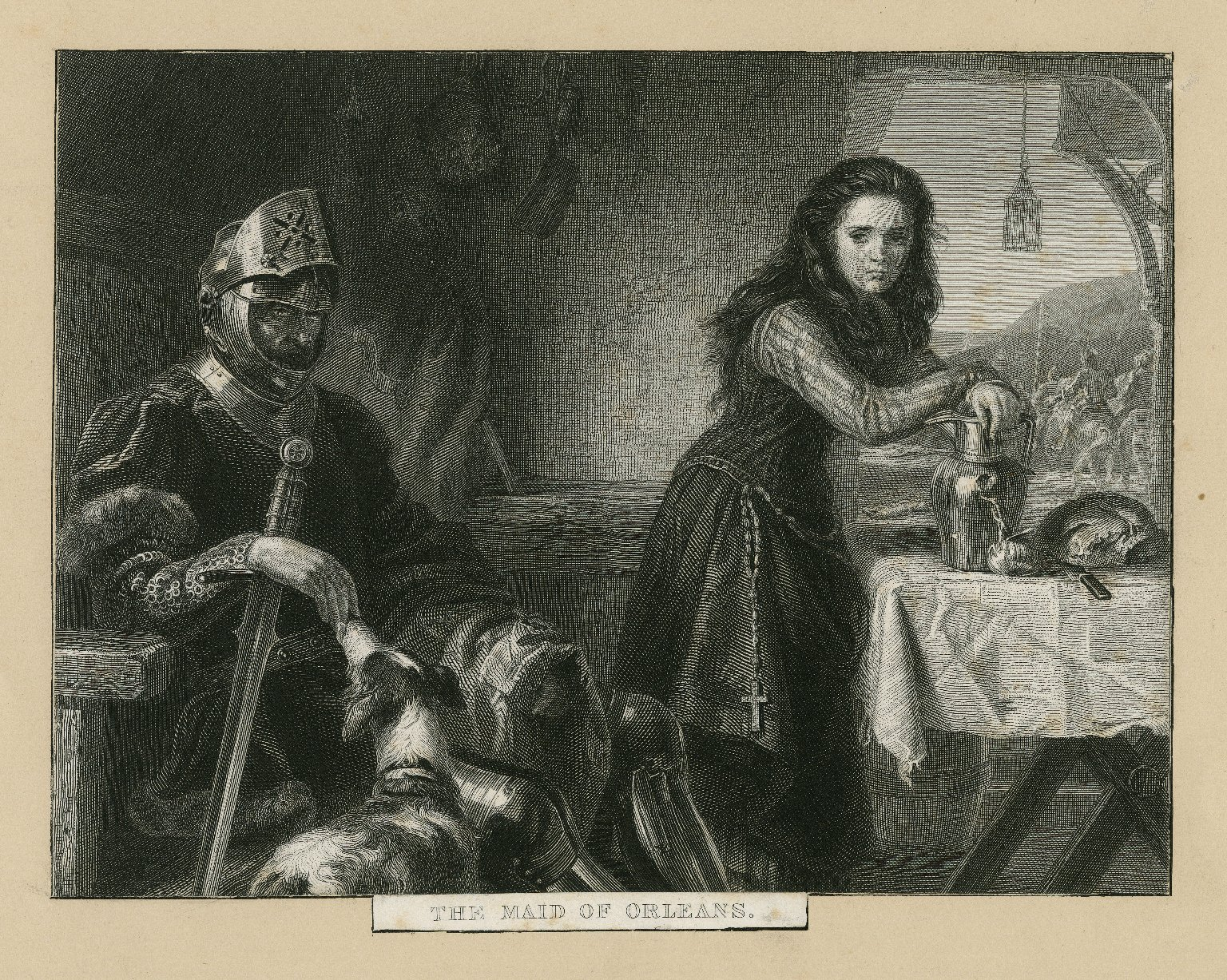 The maid of Orleans. [scene from King Henry VI, part 1, act 1, scene 2] [graphic].