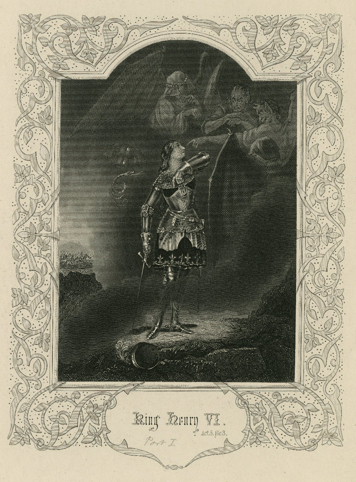 King Henry IV act 5, sc. 3 [graphic] / [engraved by J. Moore, from the original painting by E.H. Corbould].