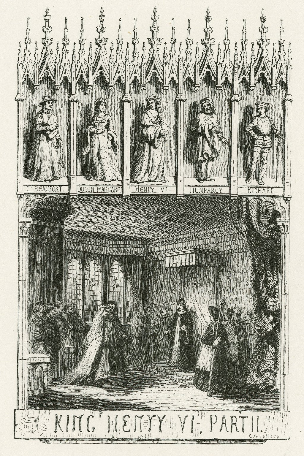 King Henry VI, part II ... [act I, scene 1] [graphic] / Verdeil ; C. Geoffroy.