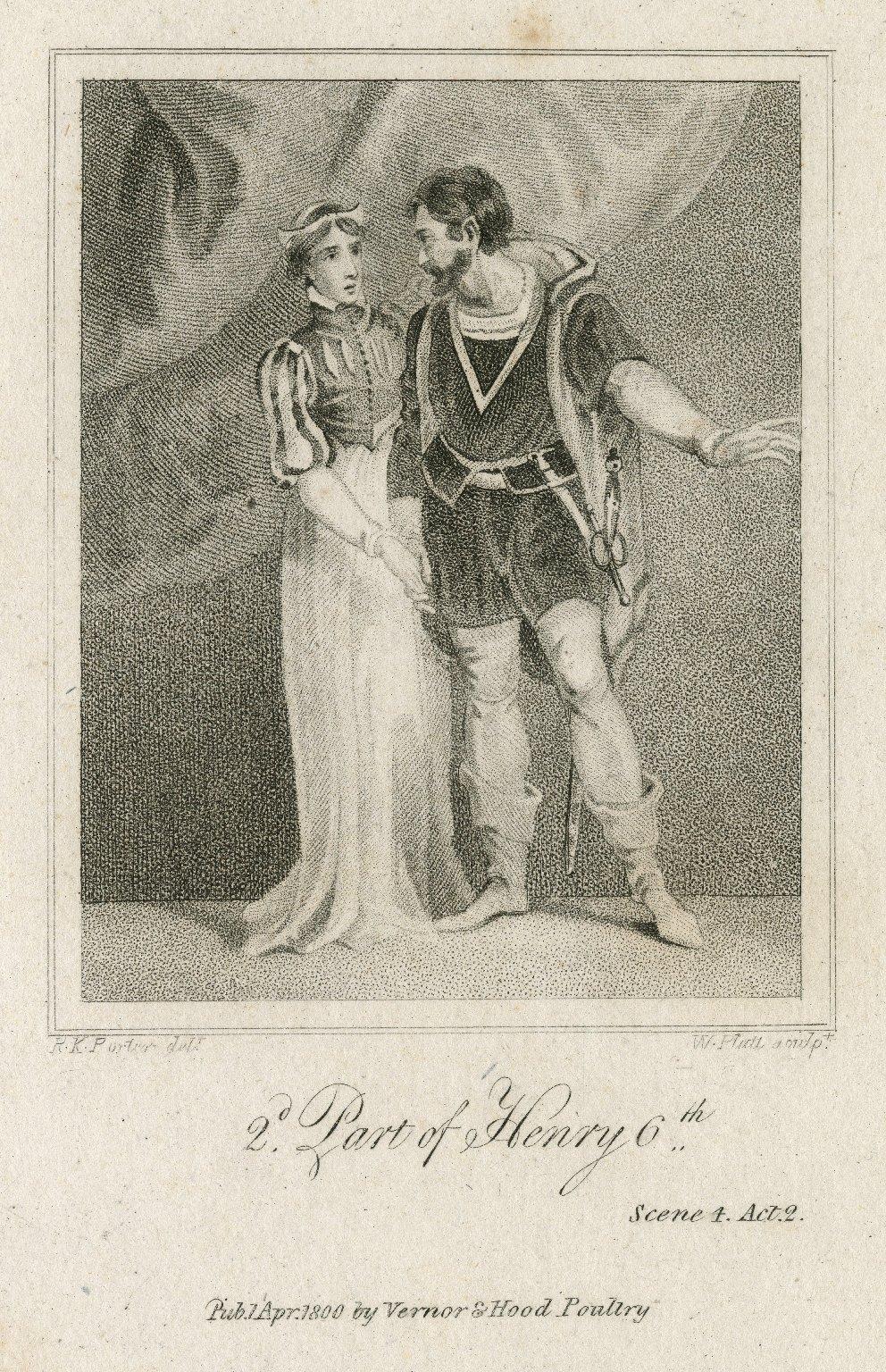 2d. part of Henry 6th, scene 4, act 2 [i.e. act III, scene 2] [graphic] / R.K. Porter, delt. ; W. Platt, sculpt.