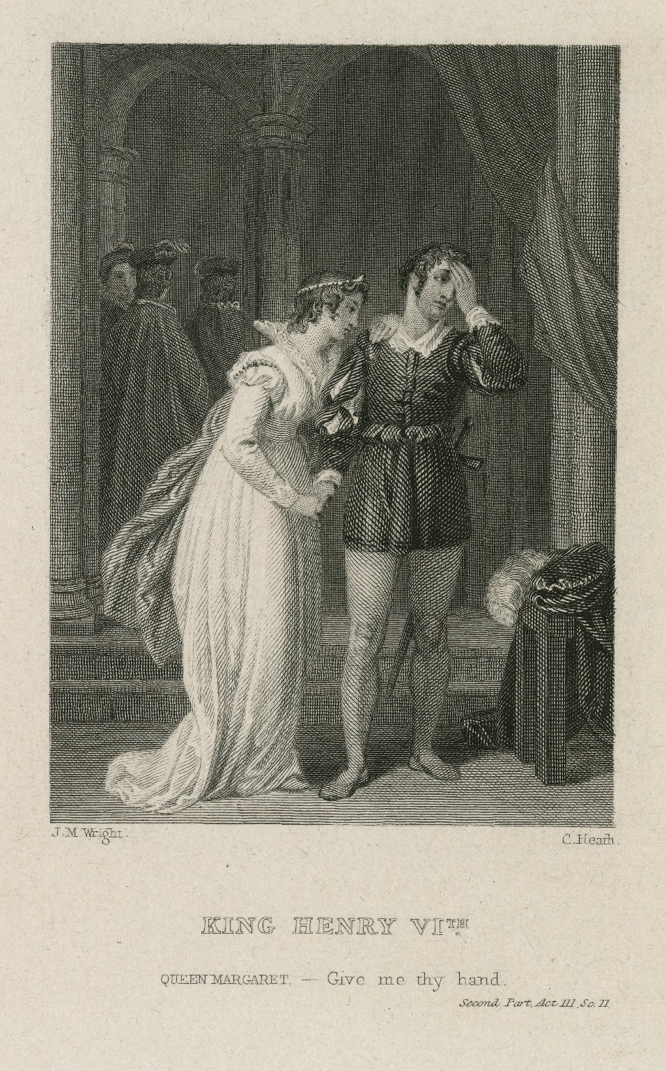 King Henry VIth: Give me thy hand, second part, Act III, sc. II [graphic] / J.M. Wright ; C. Heath.