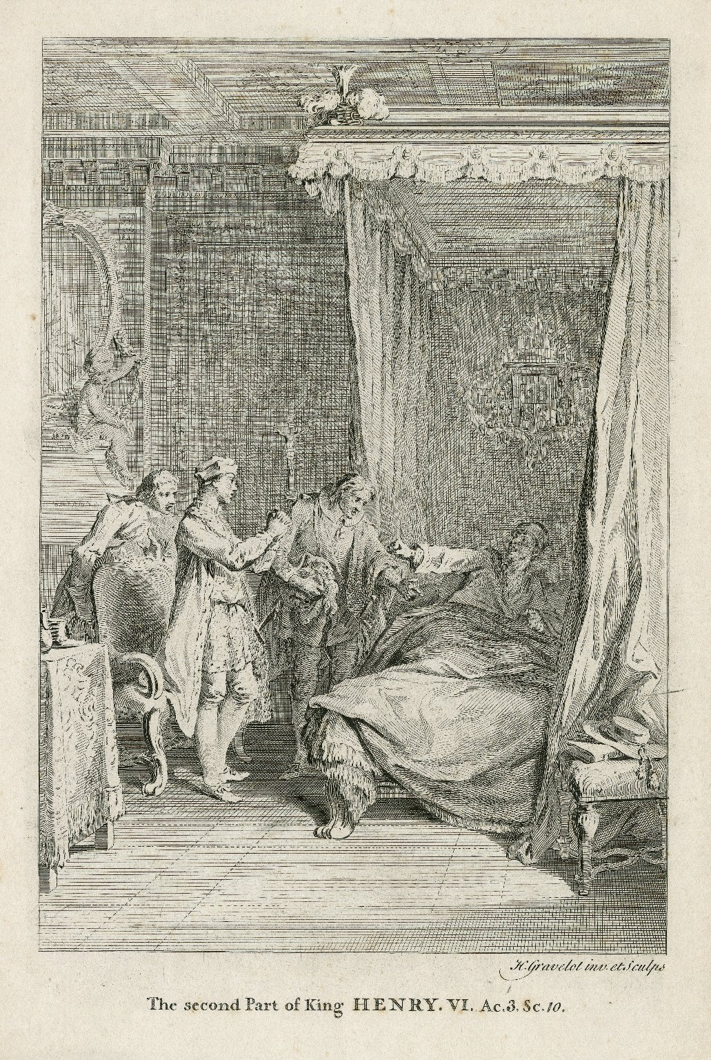 The second part of King Henry VI, ac. 3, sc. 10 [i.e., III, 3] [graphic] / H. Gravelot, inv. et sculps.