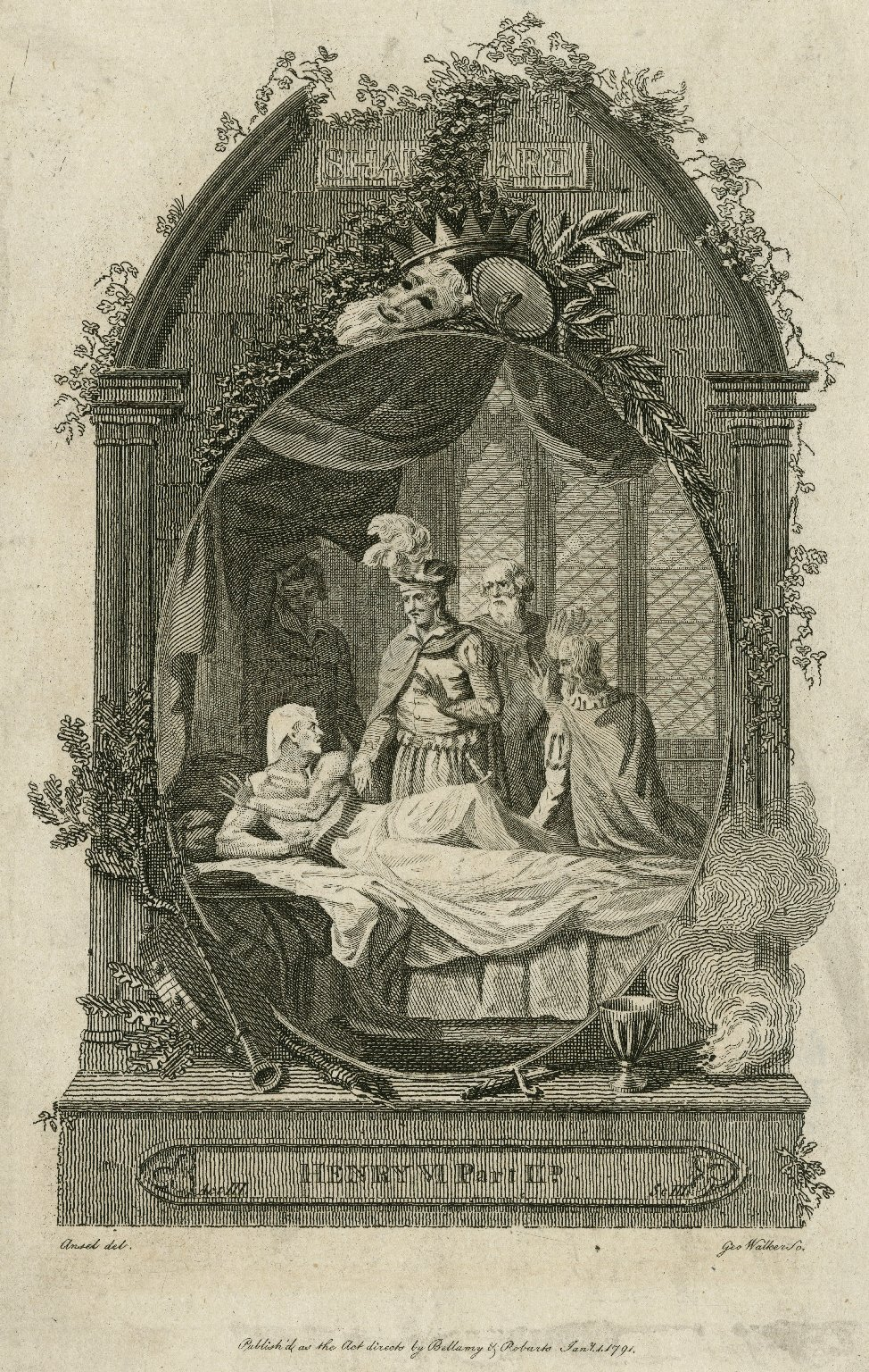 Henry VI. Part IId. Act III. Sc. III [graphic] / Ansell, del. ; Geo. Walker, sc.
