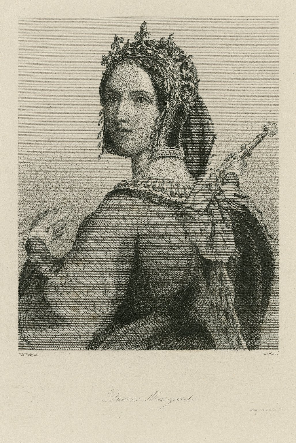 Queen Margaret, [character in Shakespeare's] Henry 6th, 3d part [graphic] / J.W. Wright ; B. Eyles.