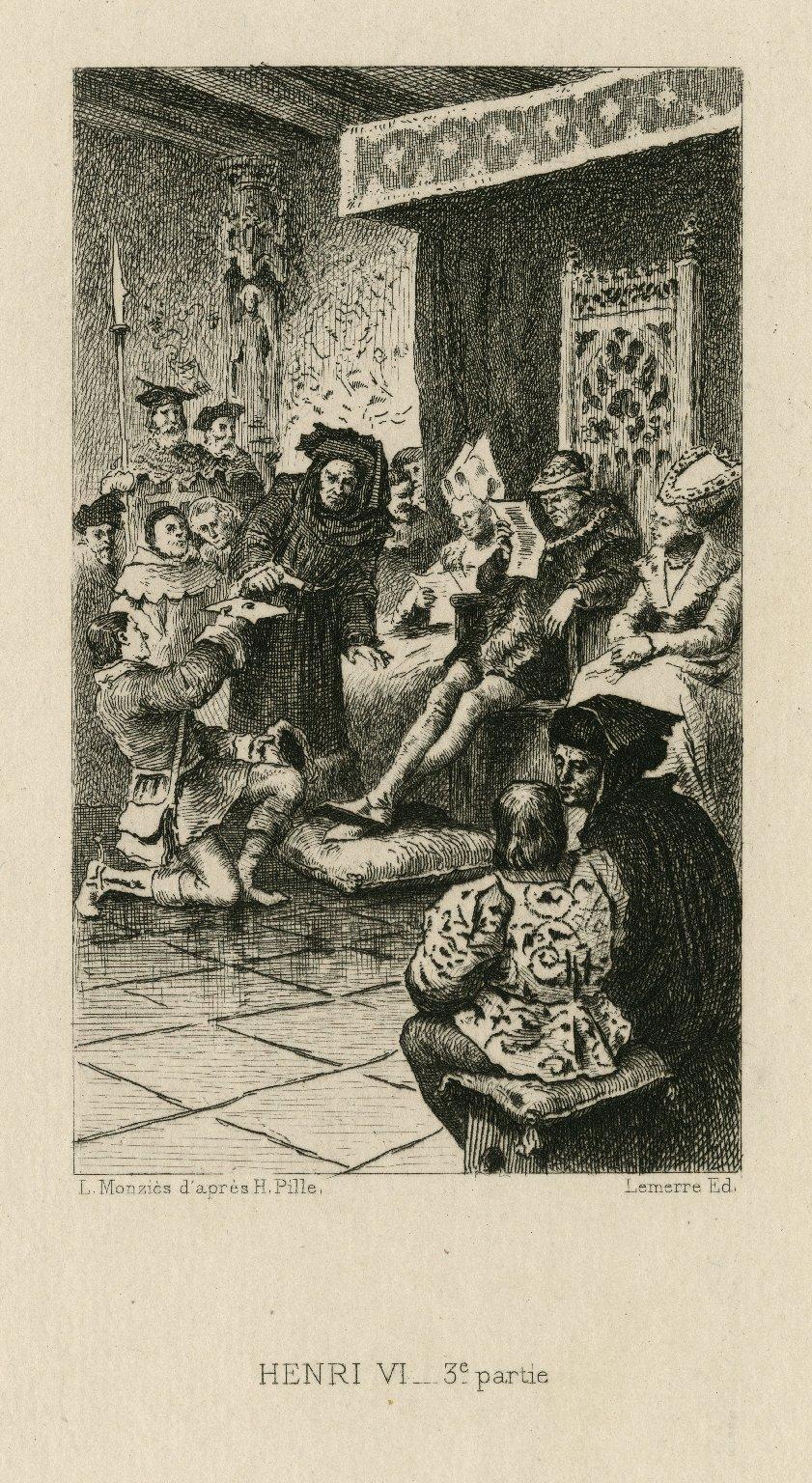 Henri VI, 3e partie [King Henry VI, part 3, act 3, scene 3] [graphic] / L. Monziès d'après H. Pille.