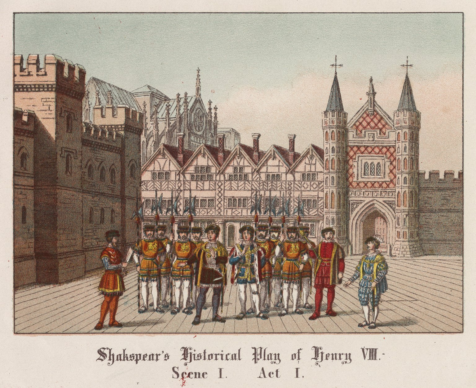 [King Henry VIII, scenes from the play] [graphic].