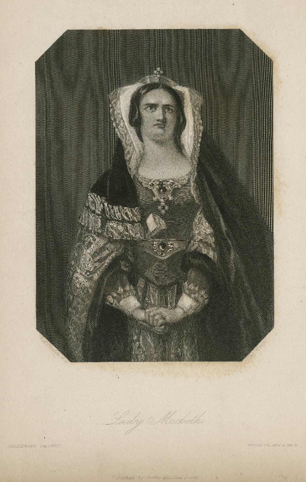 Lady Macbeth [character in Shakespeare's] Macbeth ... [graphic] / A.E. Chalon R.A. pinx ; engraved by H. Cook.