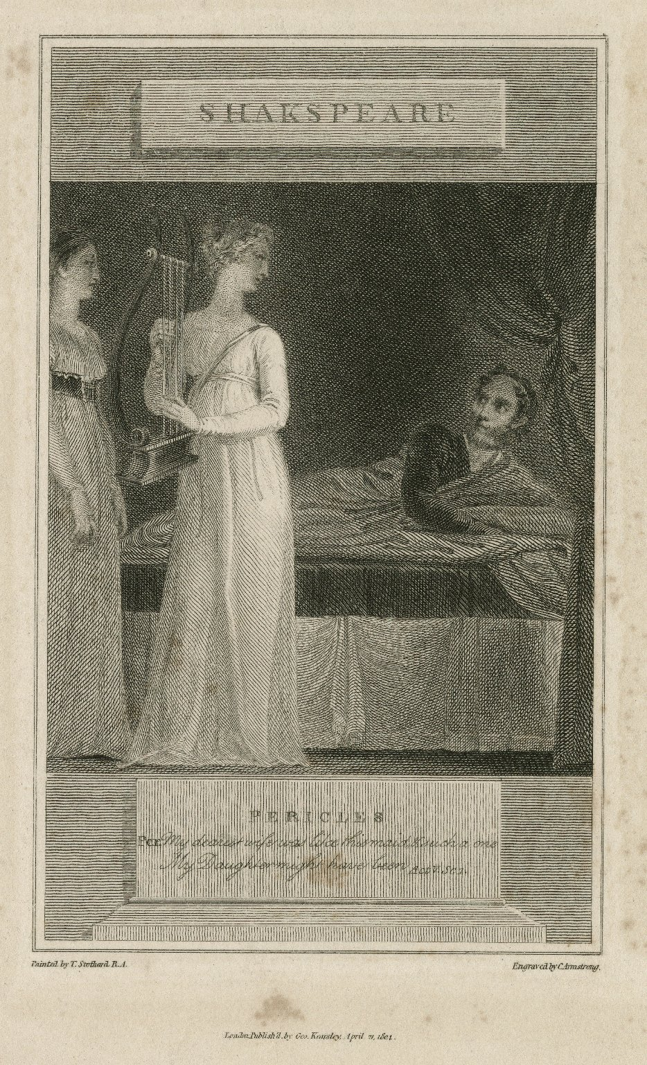 Pericles, act V, sc. 1 [graphic] / painted by T. Stothard, R.A. ; engraved by C. Armstrong.