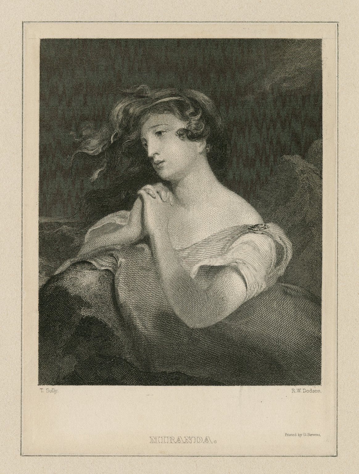 Miranda [character in Shakespeare, William, The tempest] [graphic] / T. Sully [artist] ; R.W. Dodson [printmaker].