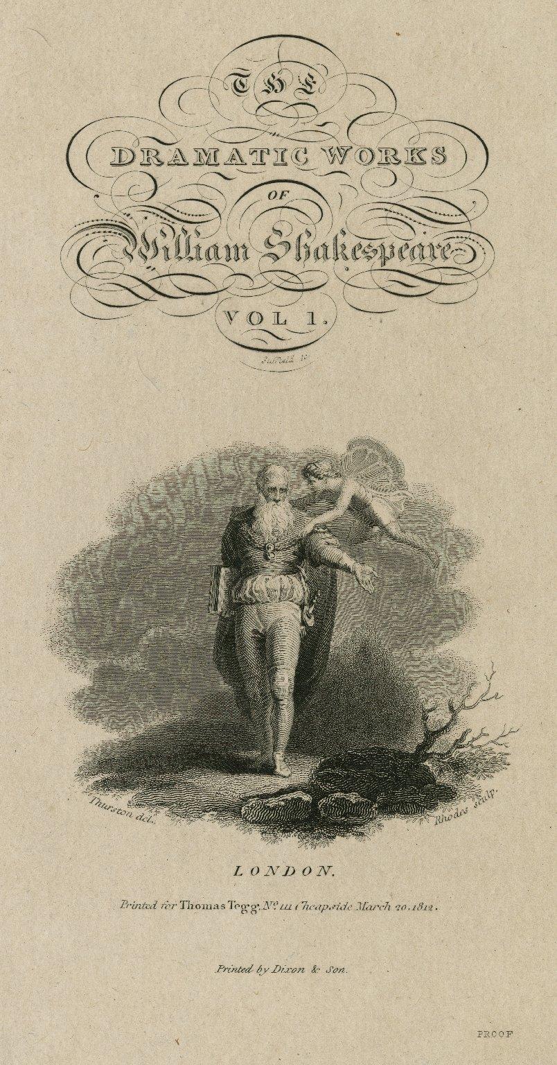 [Prospero and Ariel, Tempest, act 5, scene 1] [graphic] / Thurston del. ; Rhodes sculp.