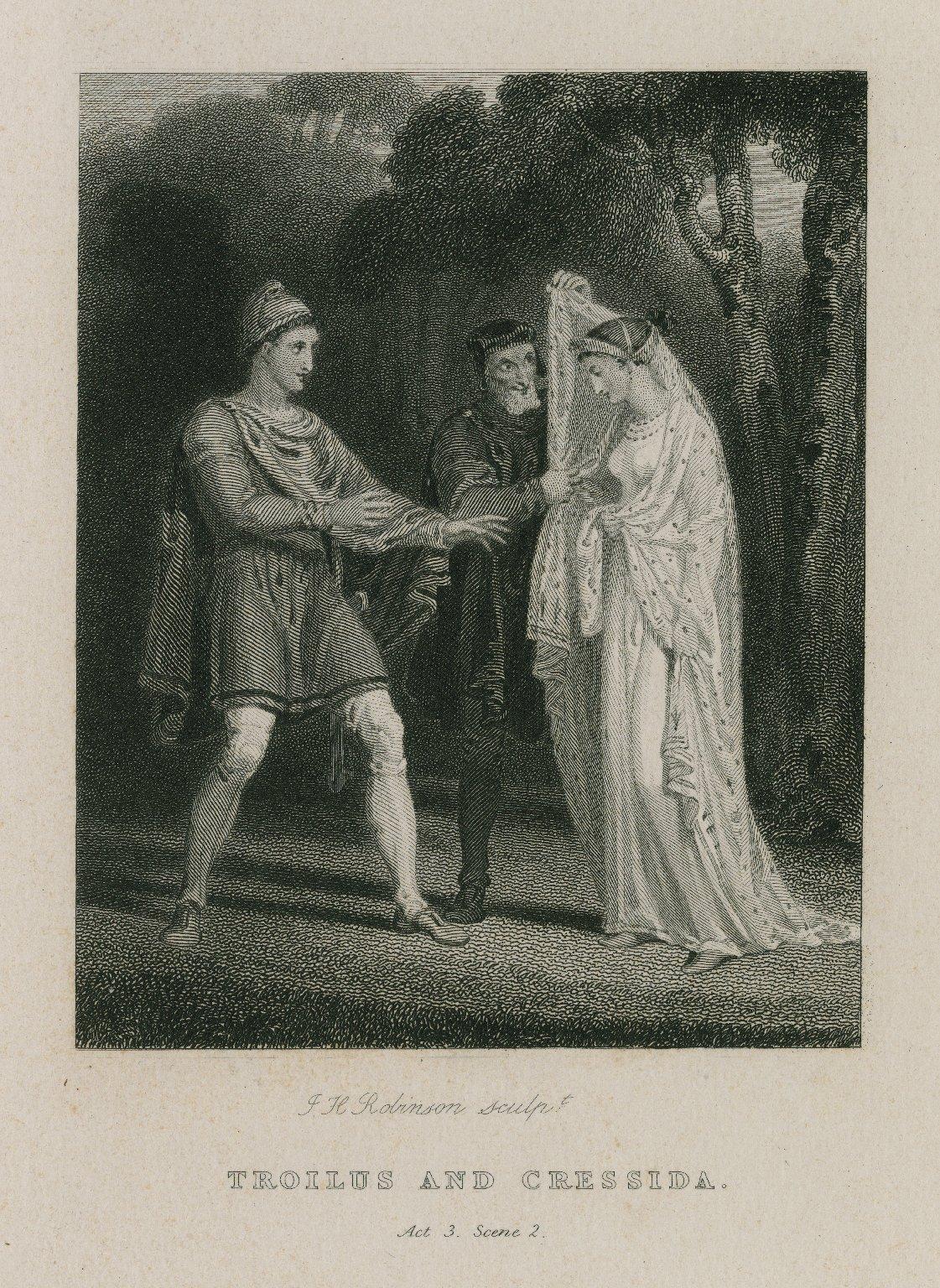 Troilus and Cressida, act 3, scene 2 [graphic] / J.H. Robinson, sculpt.