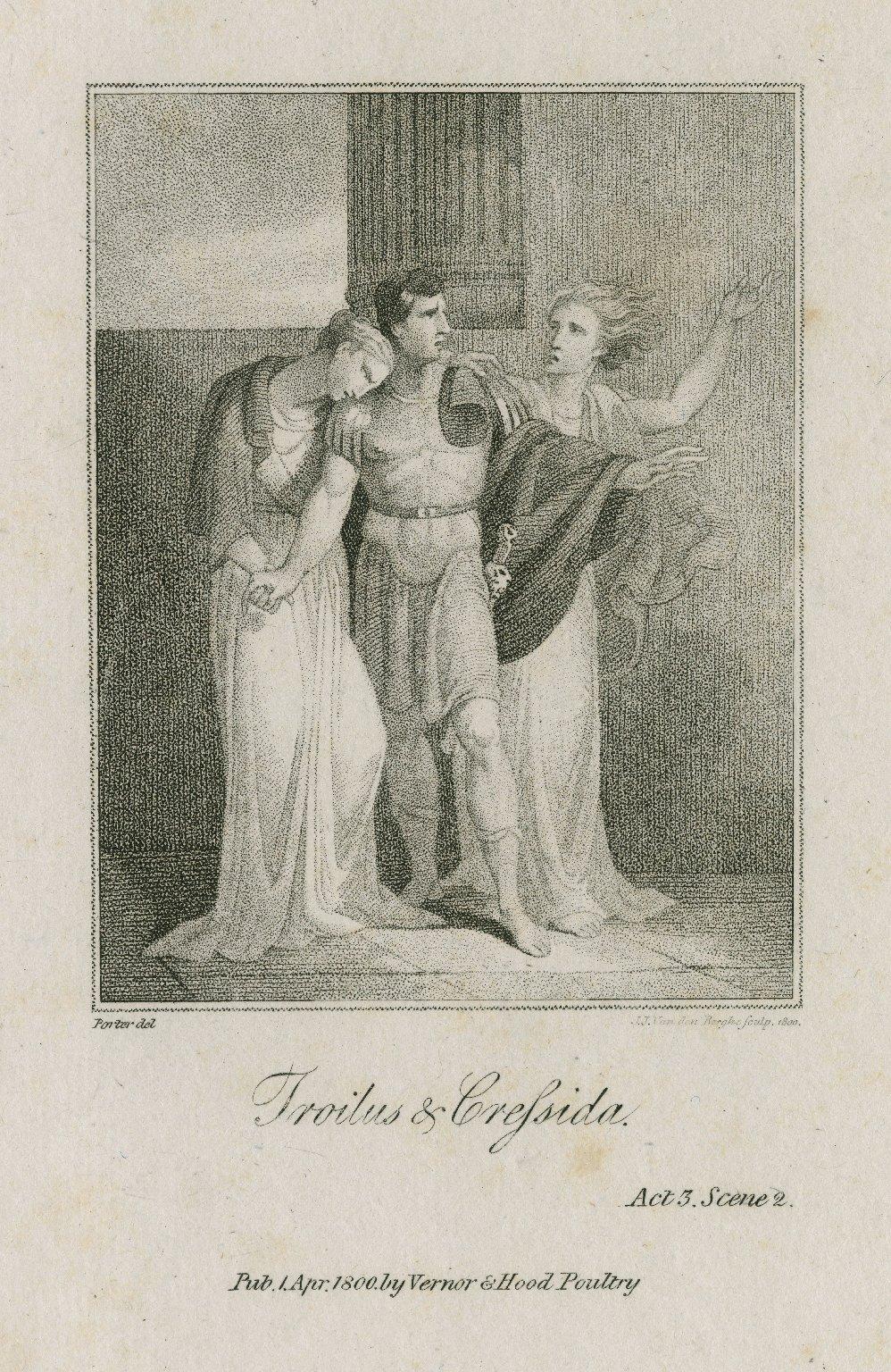 Troilus & Cressida, act 3, sc. 2 [i.e. act 5, sc. 3] [graphic] / Porter, del. ; J.J. Van den Berghe, sculpt. 1800.