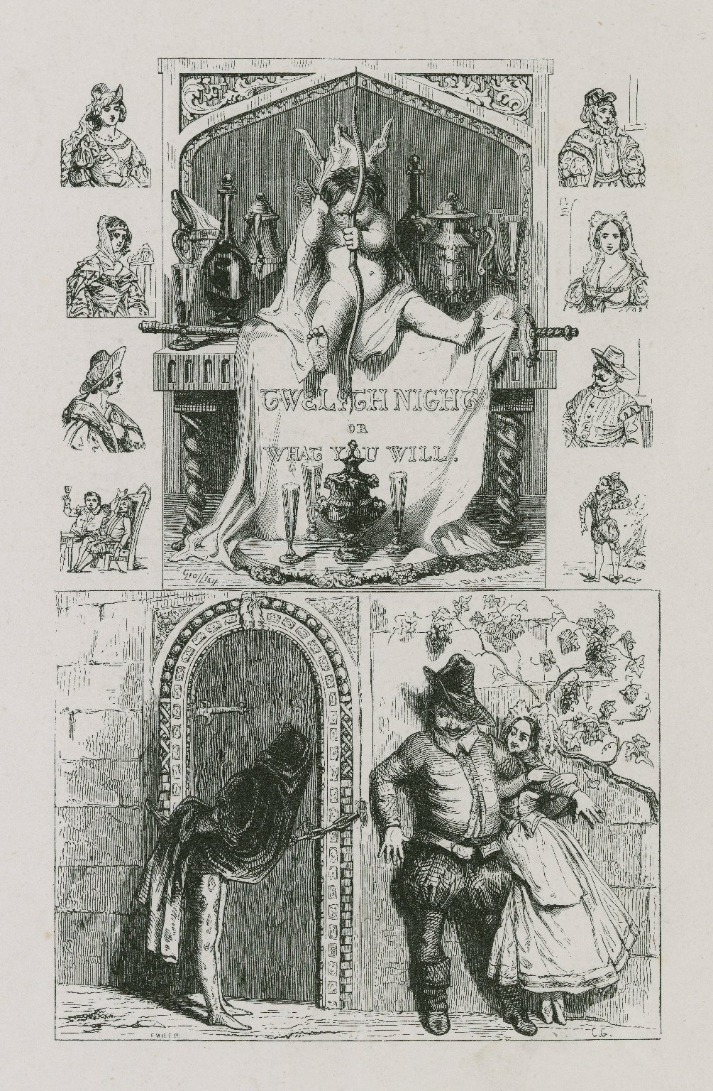 Twelfth night, or what you will [graphic] / C. Geoffroy ; L. DuJardin s. ; Emile [D.C.?] ; C.G.
