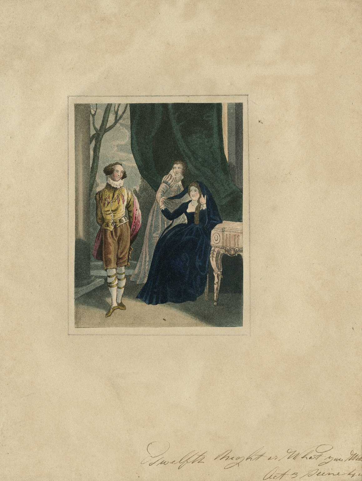 Twelfth night, or What you will, act 3, scene 4 [graphic].
