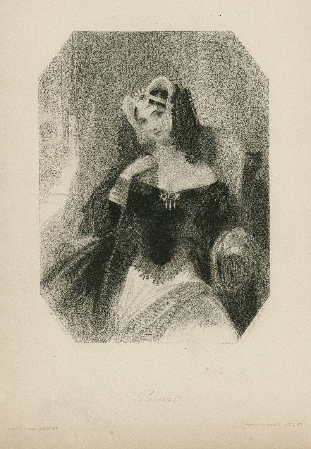 Olivia... Twelfth night, act 1, sc. 5 [graphic] / K. Meadows ; W.H. Mote.