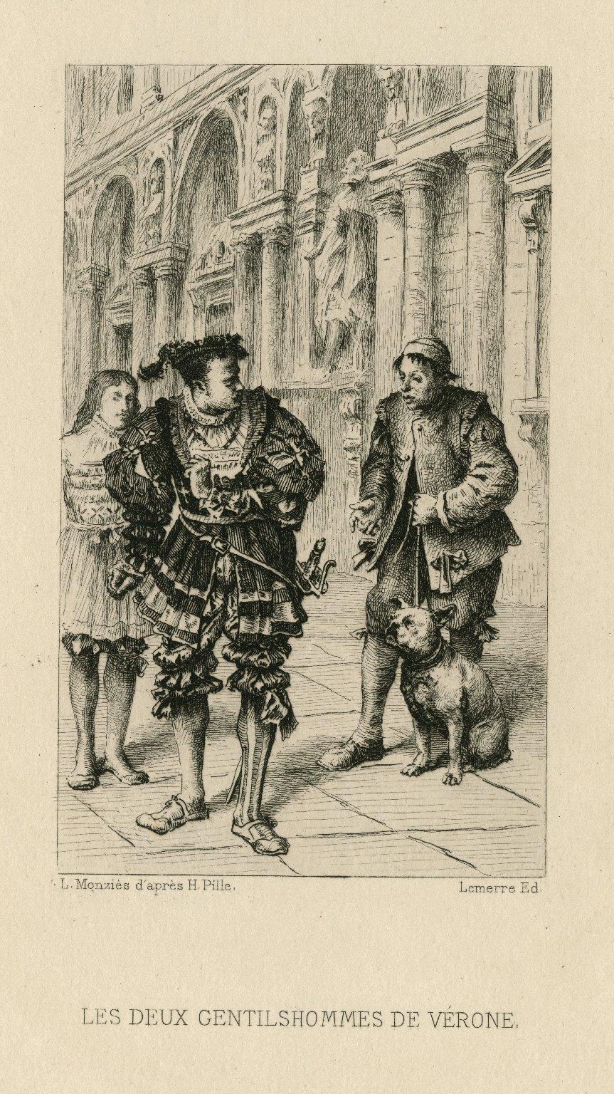 Les deux gentilshommes de Vérone [act IV, scene 4] [graphic] / L. Monziès d'après H. Pille.