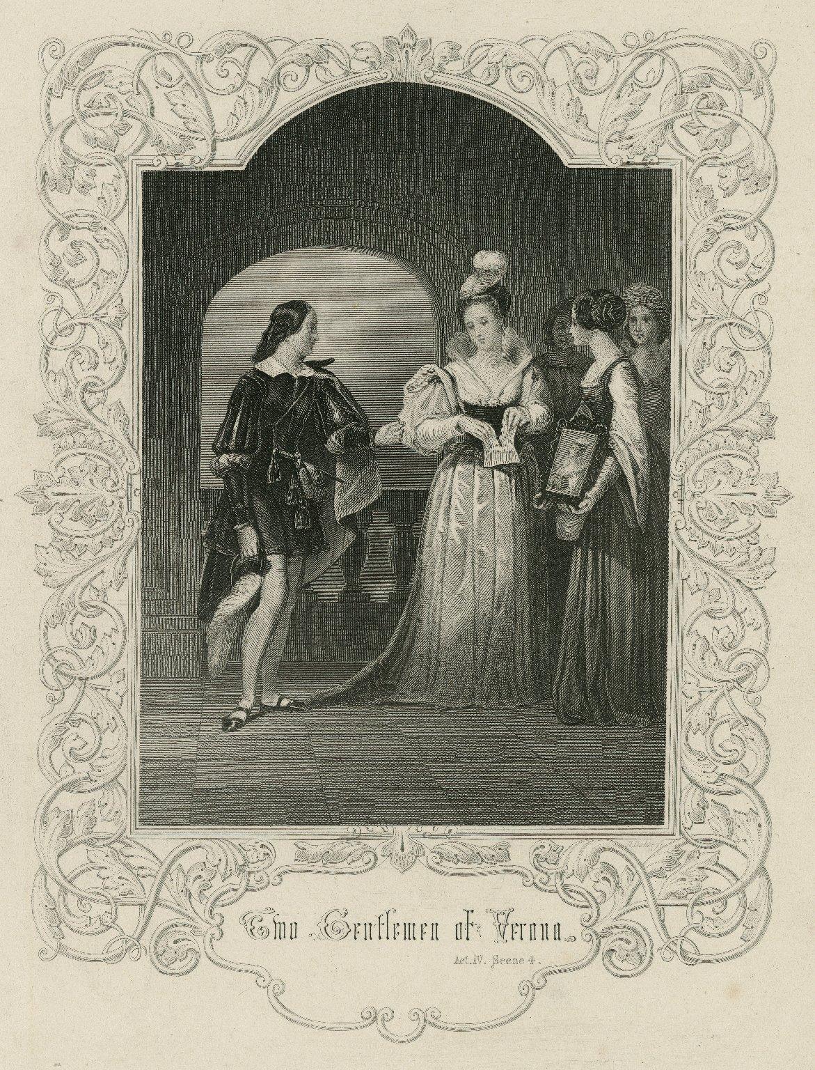 Two gentlemen of Verona, act IV, scene 4 [graphic] / [Henry Warren] ; R. Baker, sc.