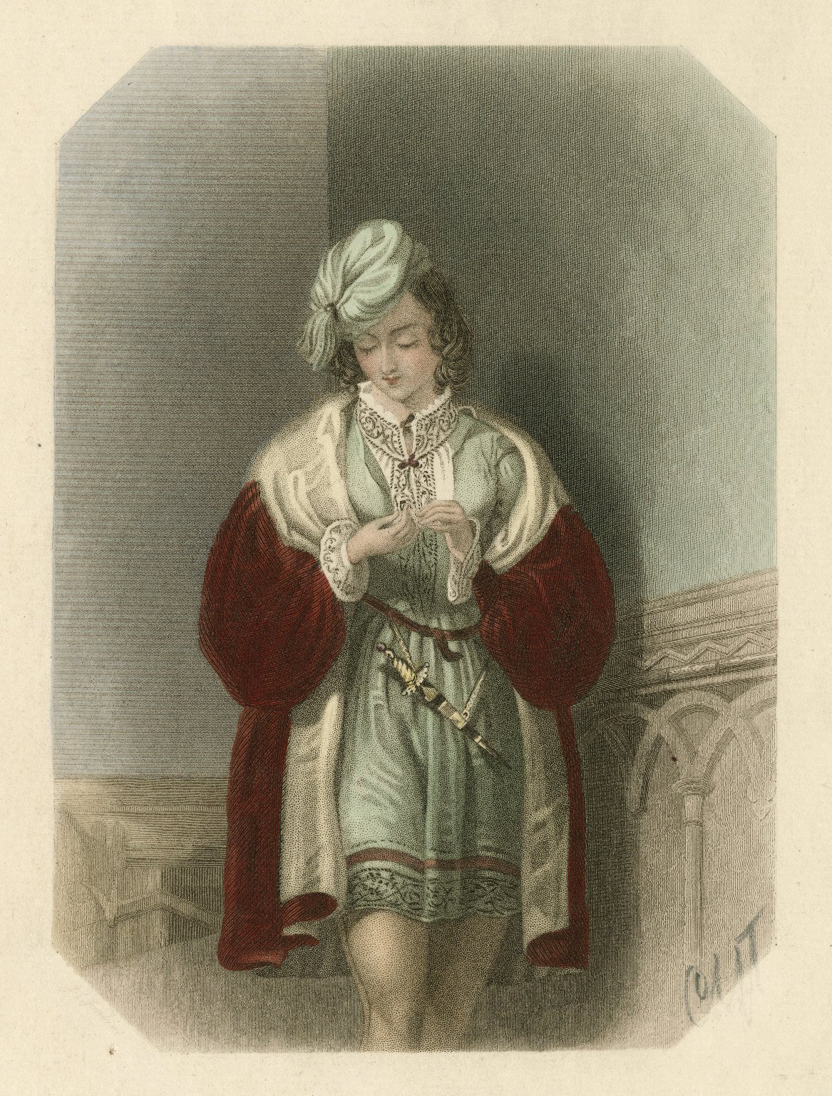 Julia, Two gentlemen of Verona, act 4, sc. 4 [graphic] / J.J. Jenkins ; B. Eyles.