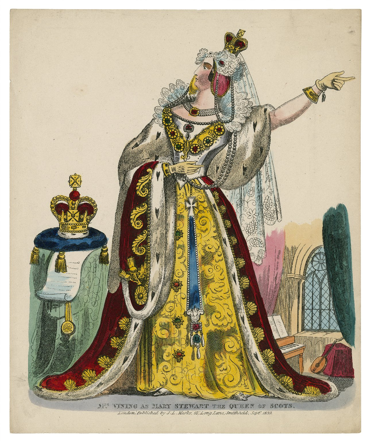 Mrs. Vining as Mary Stewart the Queen of Scots [graphic].