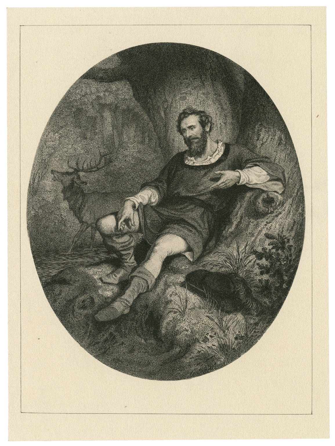 [Mr. James W. Wallack as Jacques in Shakespeare's As you like it] [graphic].