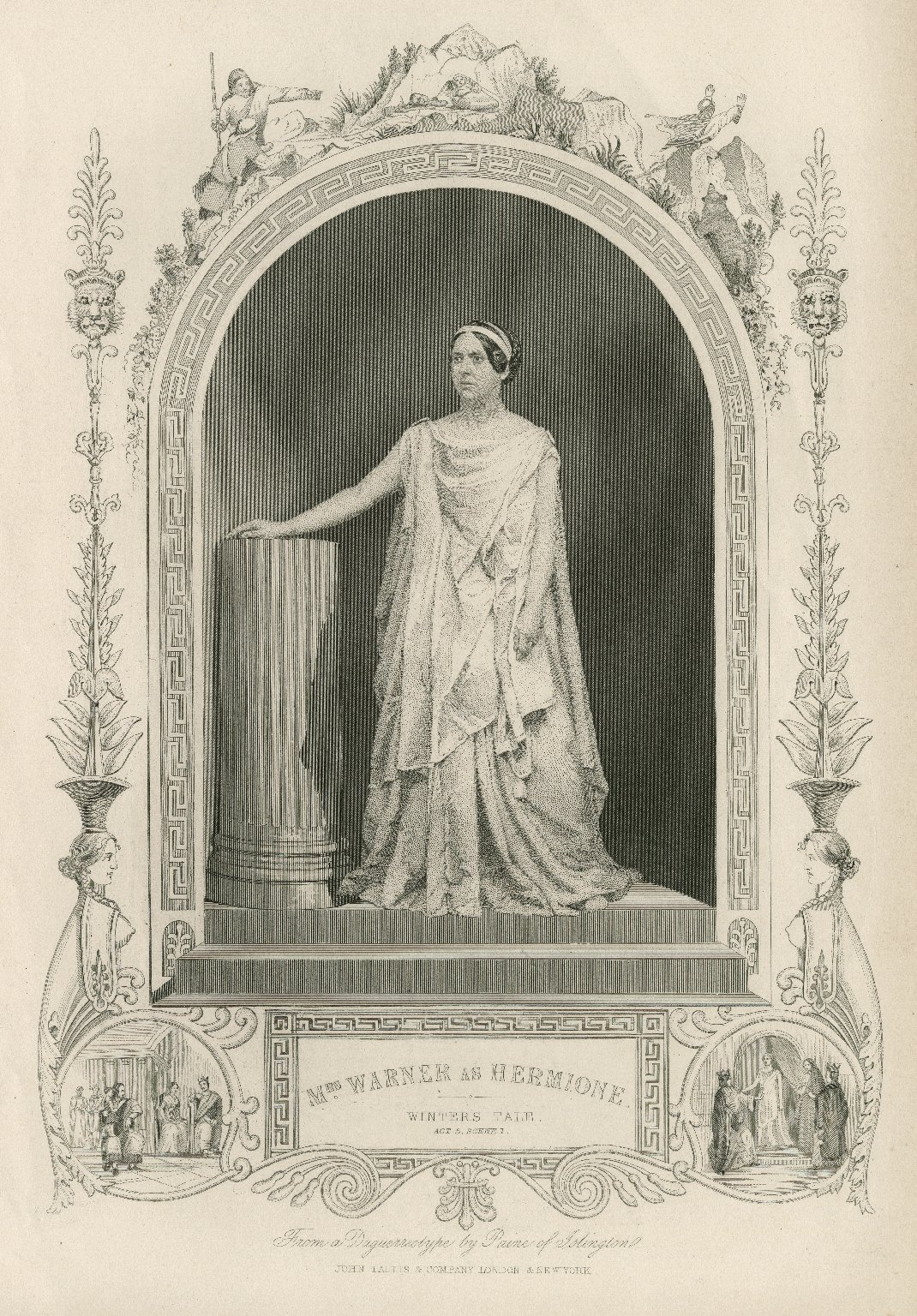 Mrs. Warner as Hermione [in Shakespeare's Winter's tale] [graphic] / from a daguerreotype by Paine of Islington.