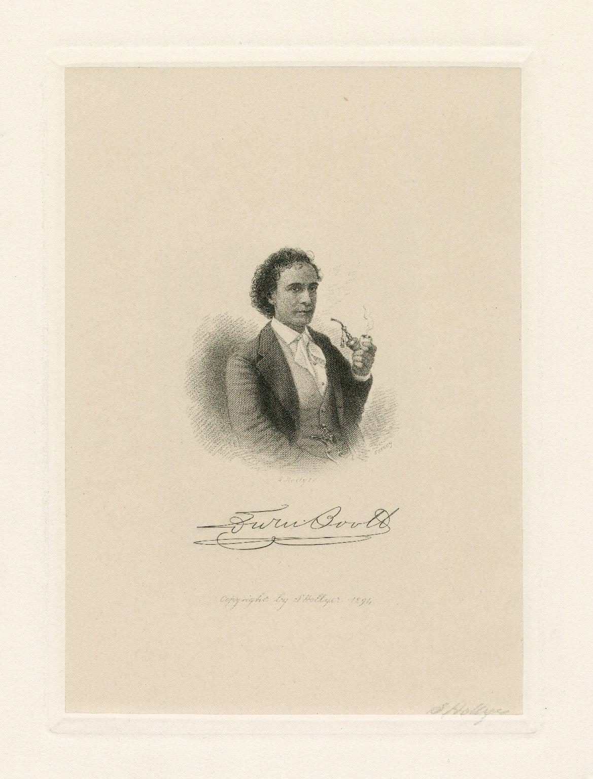 Edwin Booth [graphic] / S. Hollyer ; Sarony [photographer].