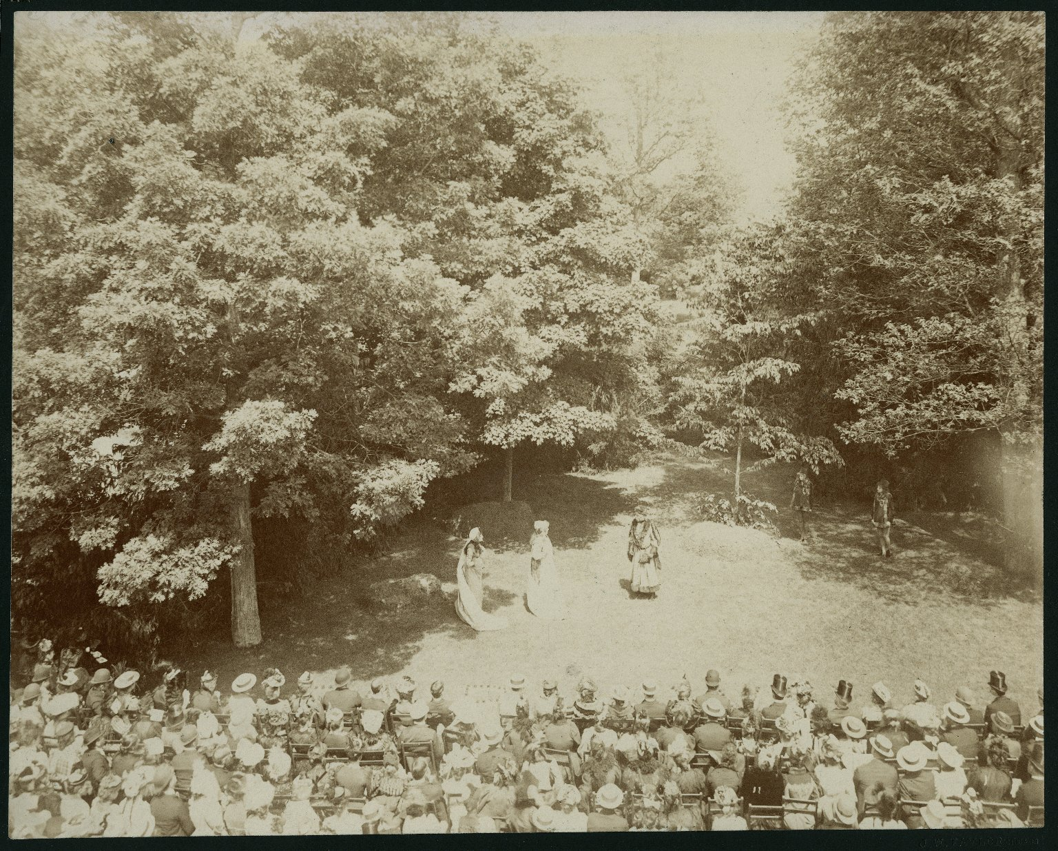 [Shakespeare's As you like it, a pastoral performance] [graphic] : [9 photographs of Augustin Daly's production at Fair Lawn, Lake Forest, Illinois, 1892].