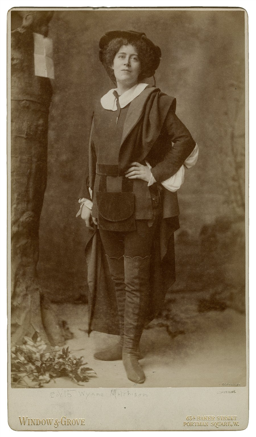 Edith Wynne Matthison [as Rosalind in Shakespeare's As you like it] [graphic] / Window & Grove.