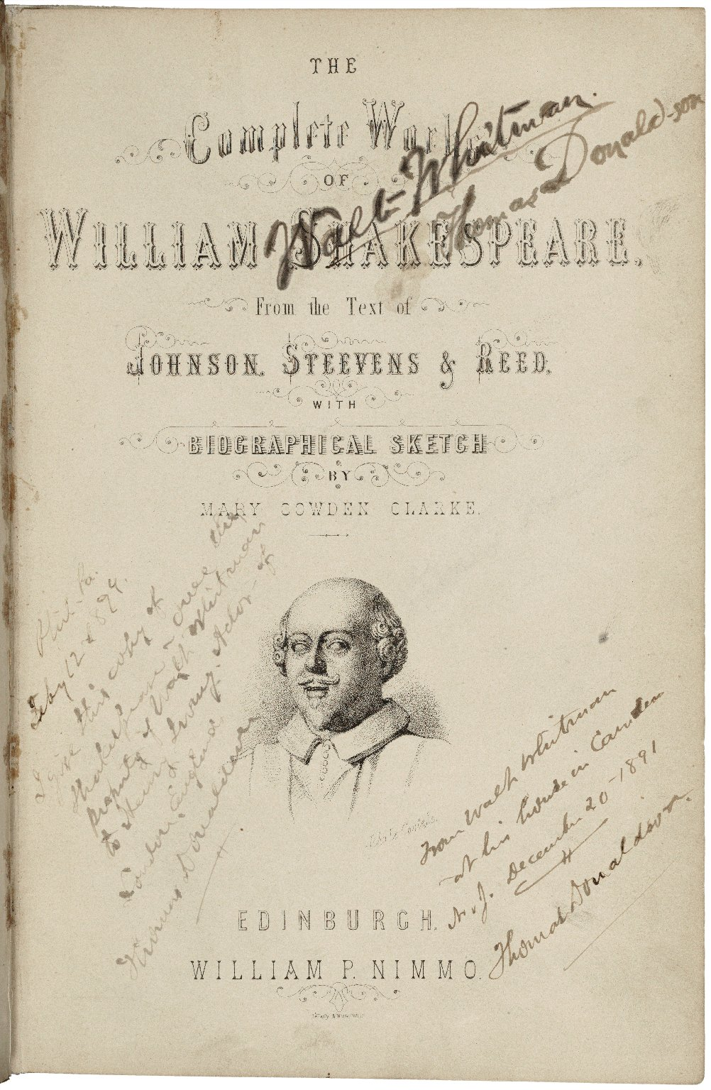 [Works.] The complete works of William Shakespeare, from the text of Johnson, Steevens & Reed ...