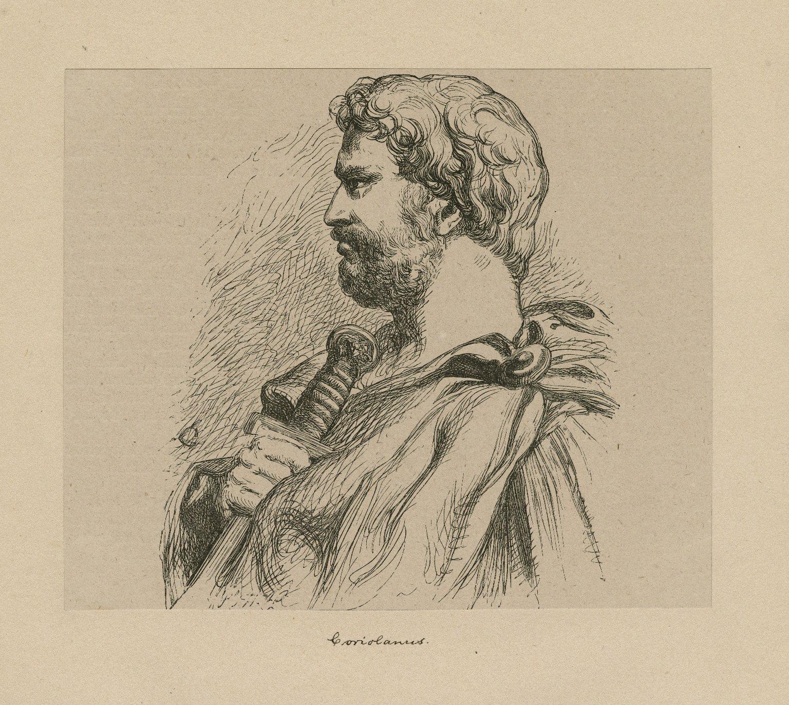 [Coriolanus] [graphic] / JG [monogram] ; Dalziel.