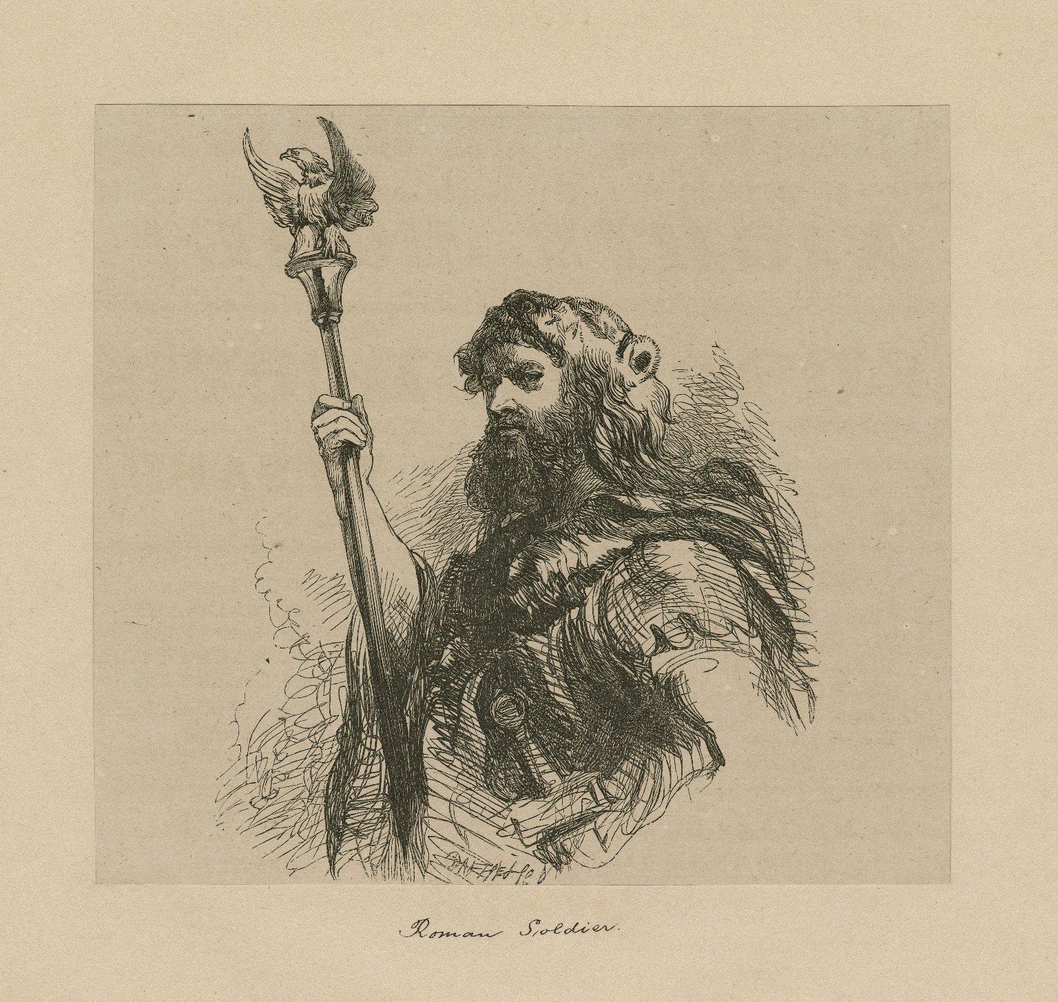 Roman soldier : [character in Coriolanus] [graphic] / J.G. ; Dalziel Bros.