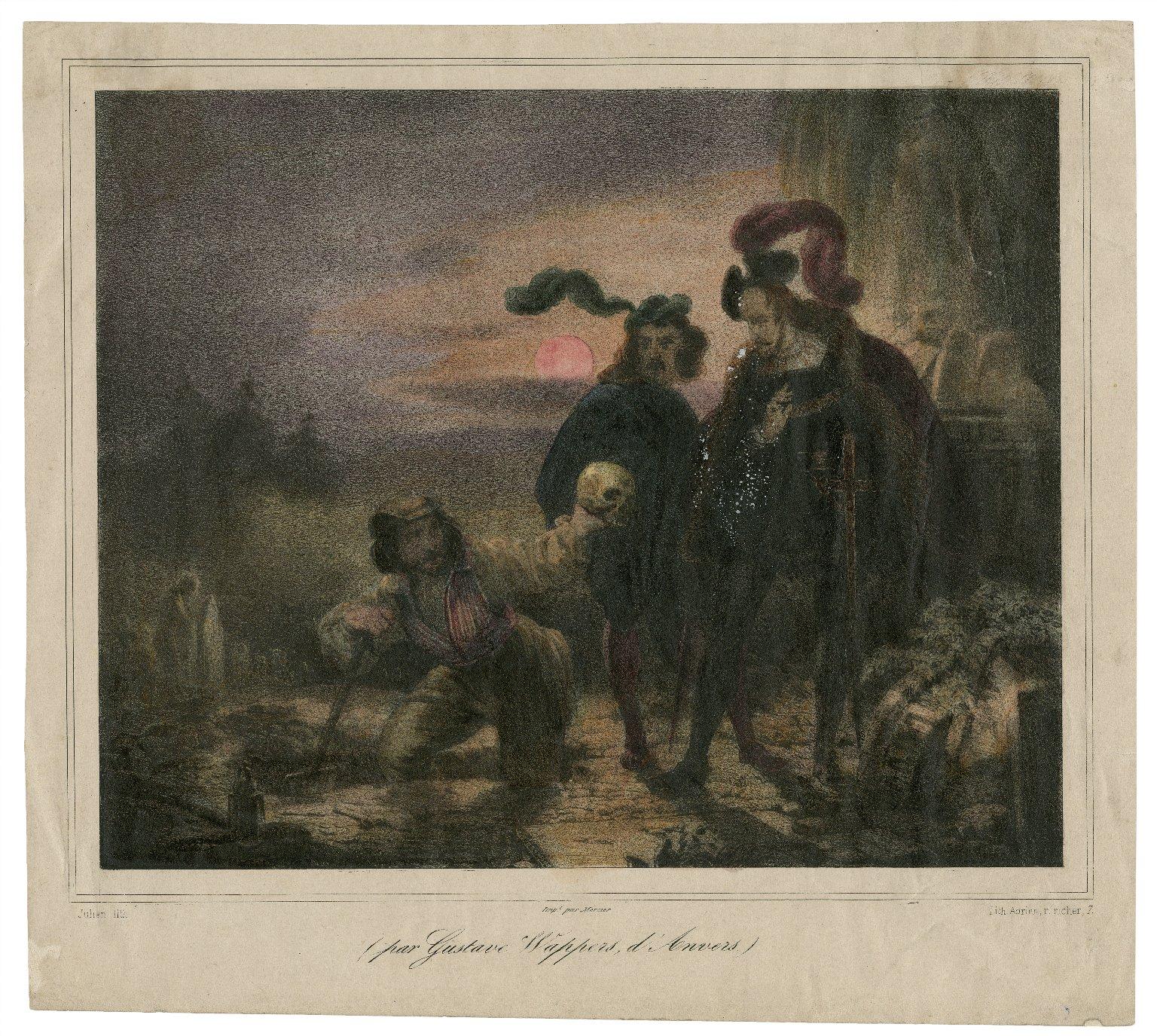 [Hamlet, act V, scene 1] [graphic] / [par Gustave Wappers, d'Anvers] ; Julien lith.