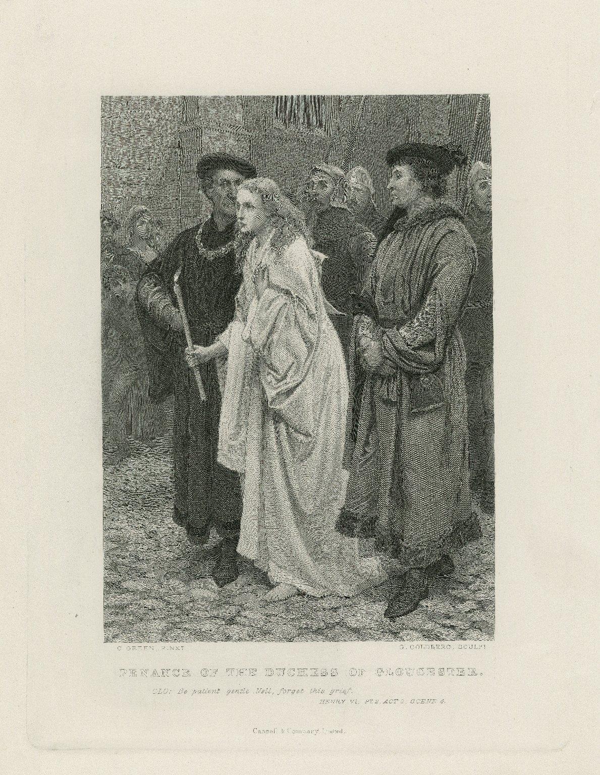 Penance of the Duchess of Gloucester ... Henry VI, pt. 2, act 2, scene 4 [graphic] / C. Green, pinxt. ; G. Goldberg, sculpt.