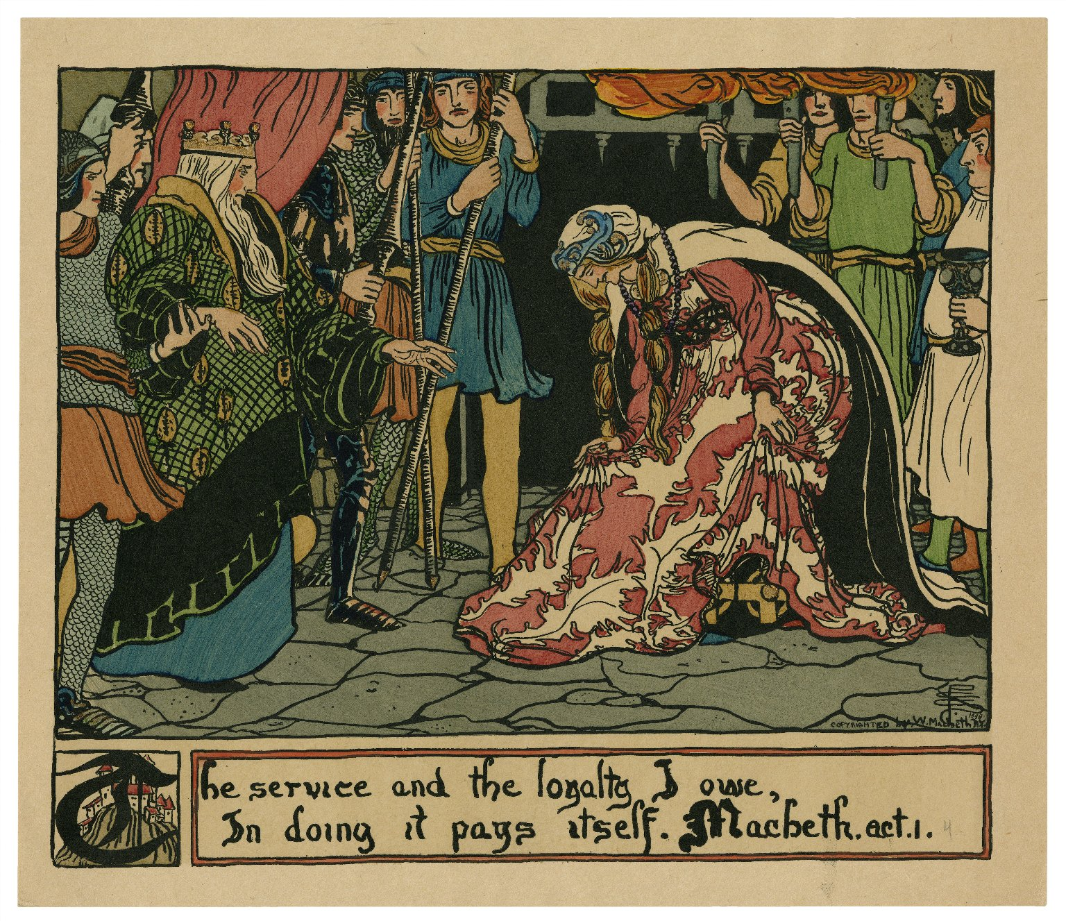 The service and the loyalty I owe, in doing it pays itself, Macbeth, act 1, [scene 4] [graphic] / P.C.S.